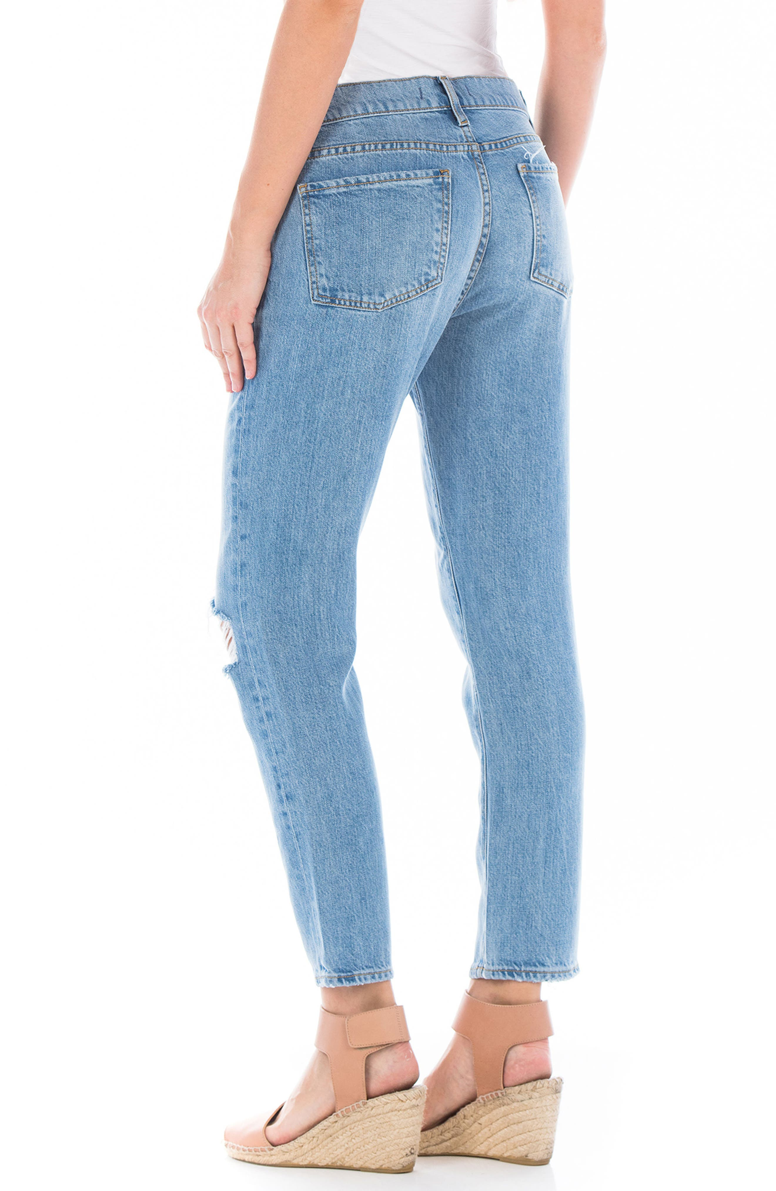Axl Ripped Crop Girlfriend Jeans,                             Alternate thumbnail 2, color,                             400