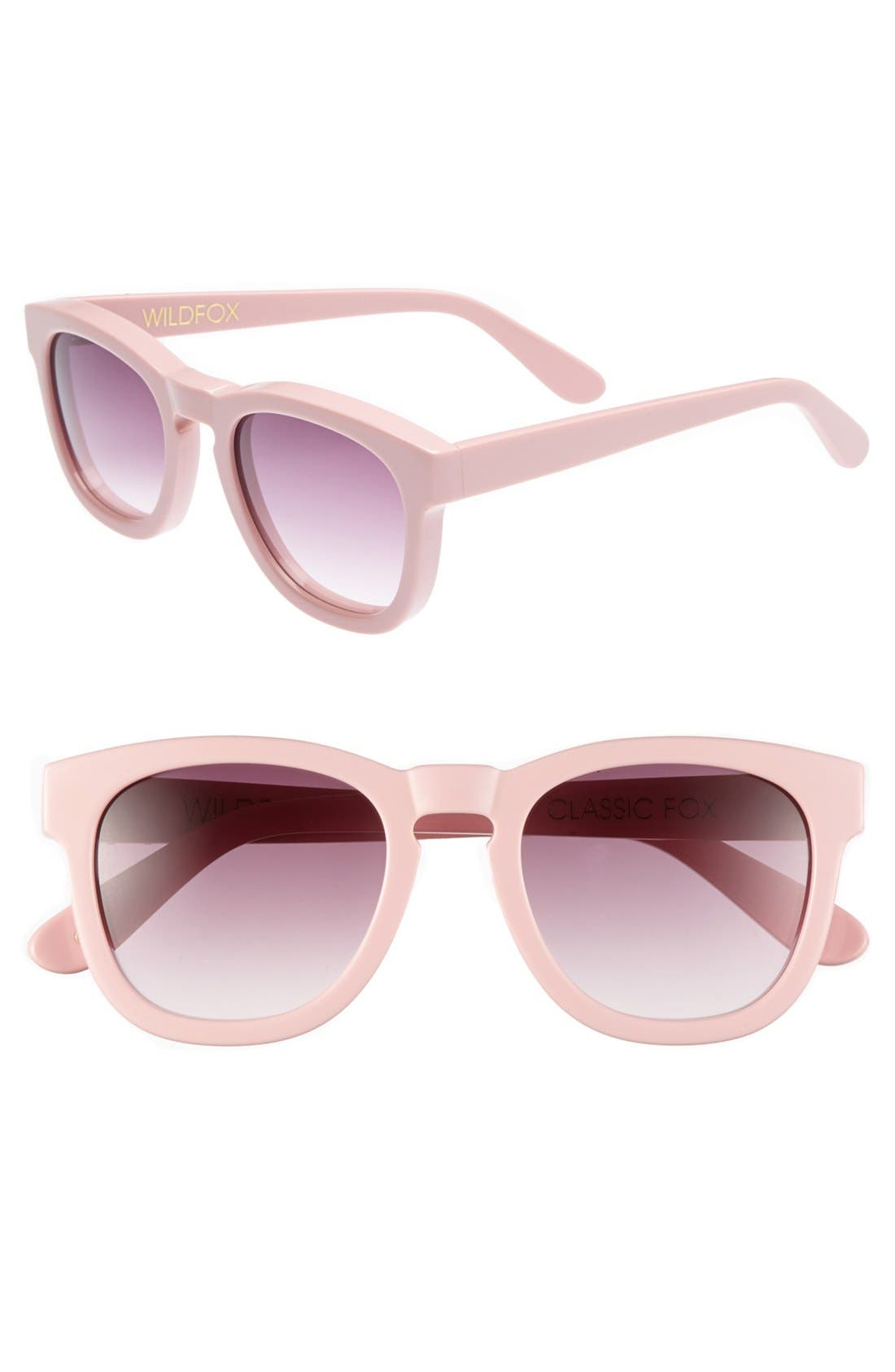 'Classic Fox' 50mm Retro Sunglasses,                             Main thumbnail 18, color,