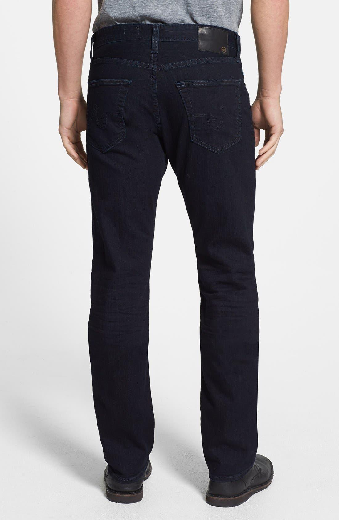 'Graduate' Tailored Fit Straight Leg Jeans,                             Alternate thumbnail 2, color,                             409