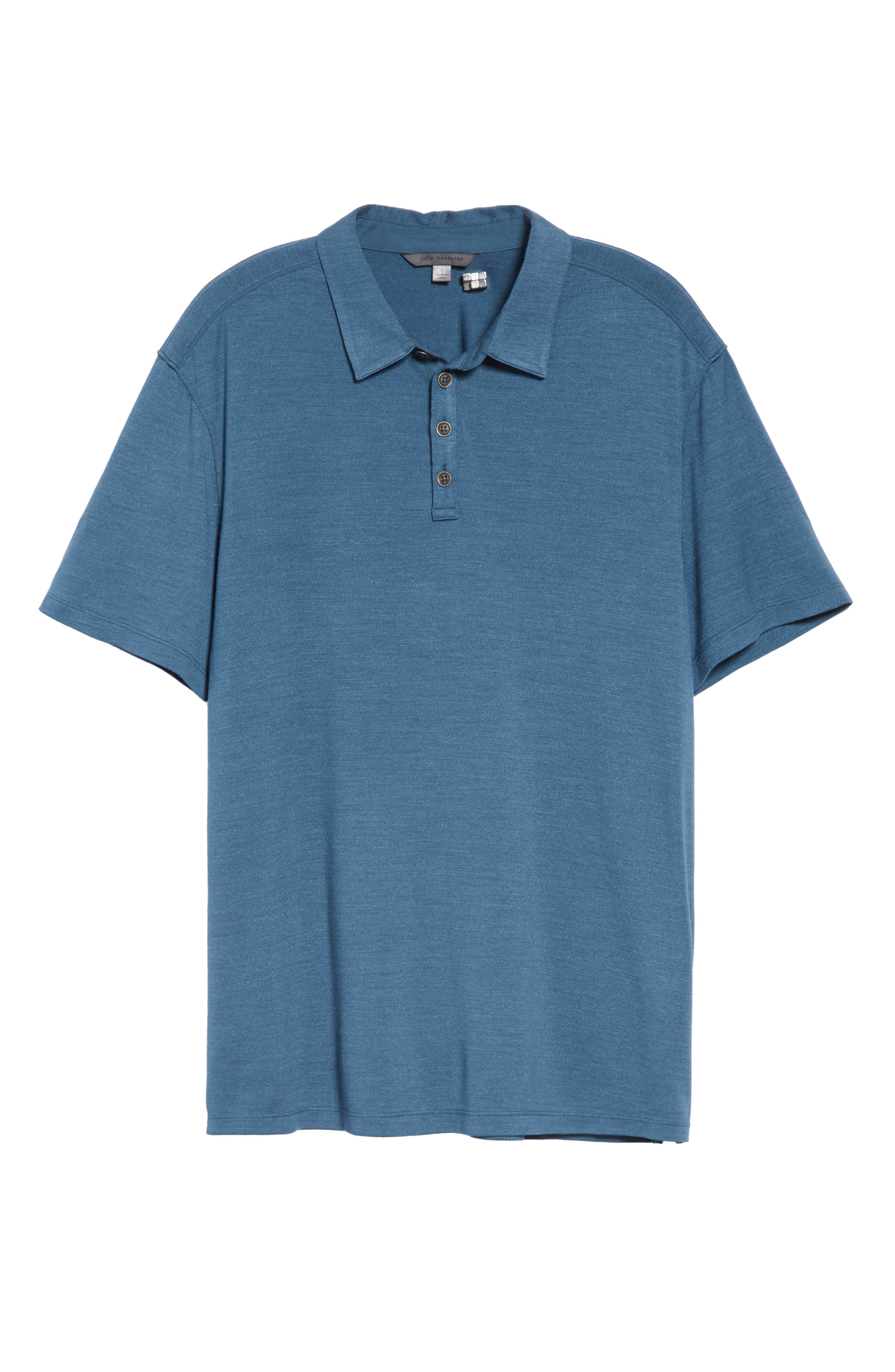 Hampton Jersey Polo,                             Alternate thumbnail 6, color,                             OCEAN BLUE