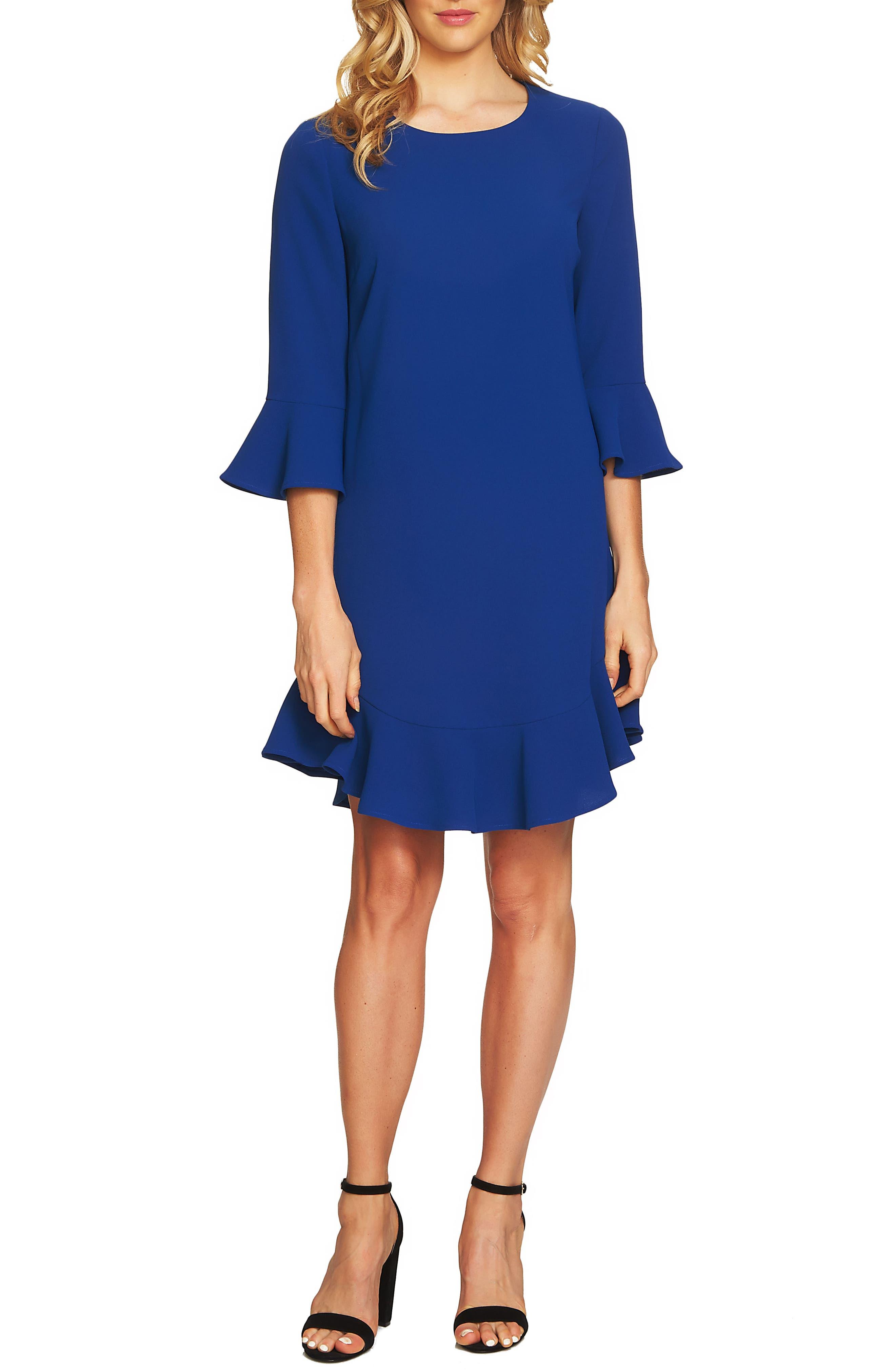 Ruffle Hem Trim Dress,                             Main thumbnail 1, color,                             425