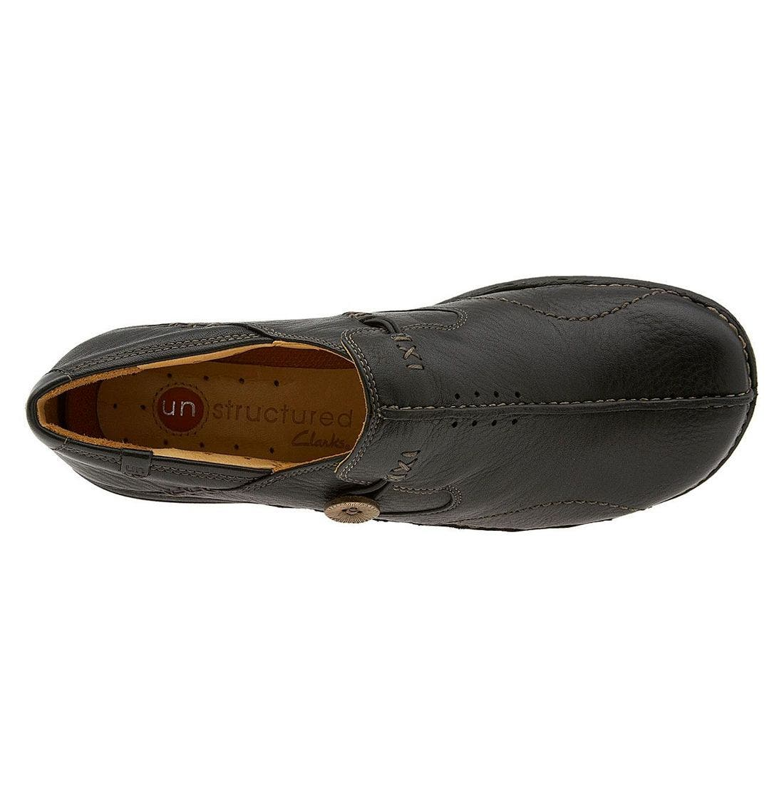 Unstructured 'Un.Loop' Slip-On,                             Alternate thumbnail 3, color,                             BLACK LEATHER