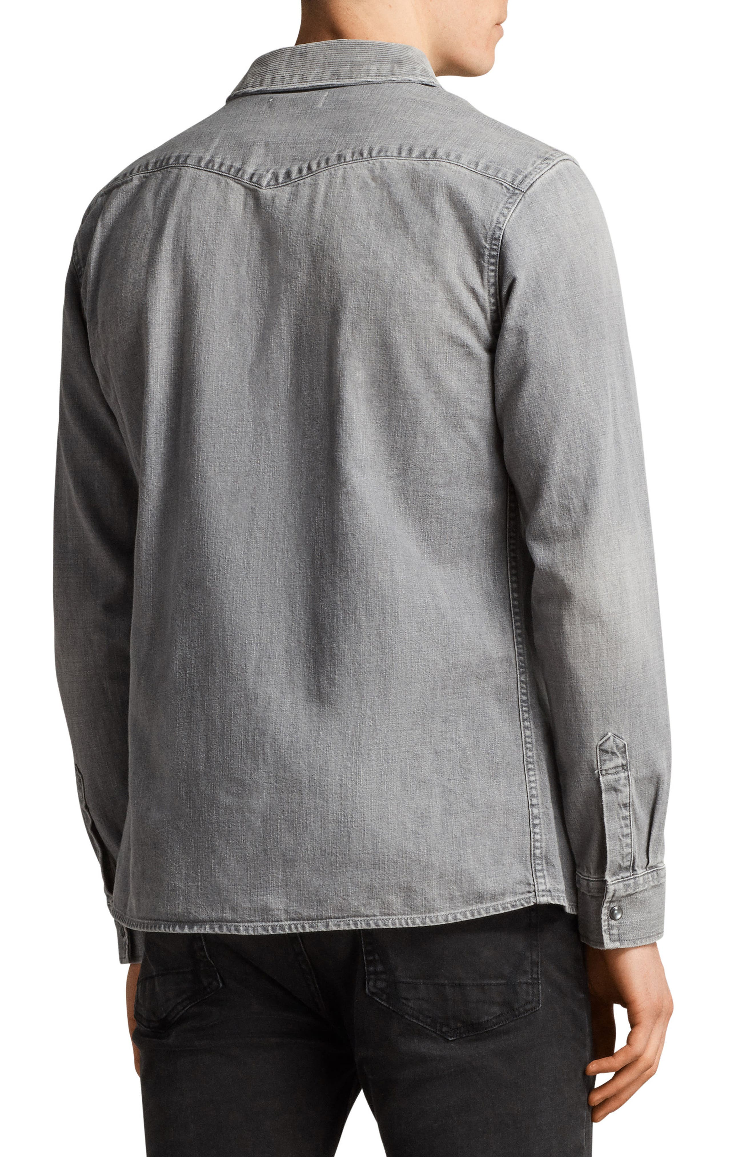 Gamble Slim Fit Sport Shirt,                             Alternate thumbnail 2, color,                             033