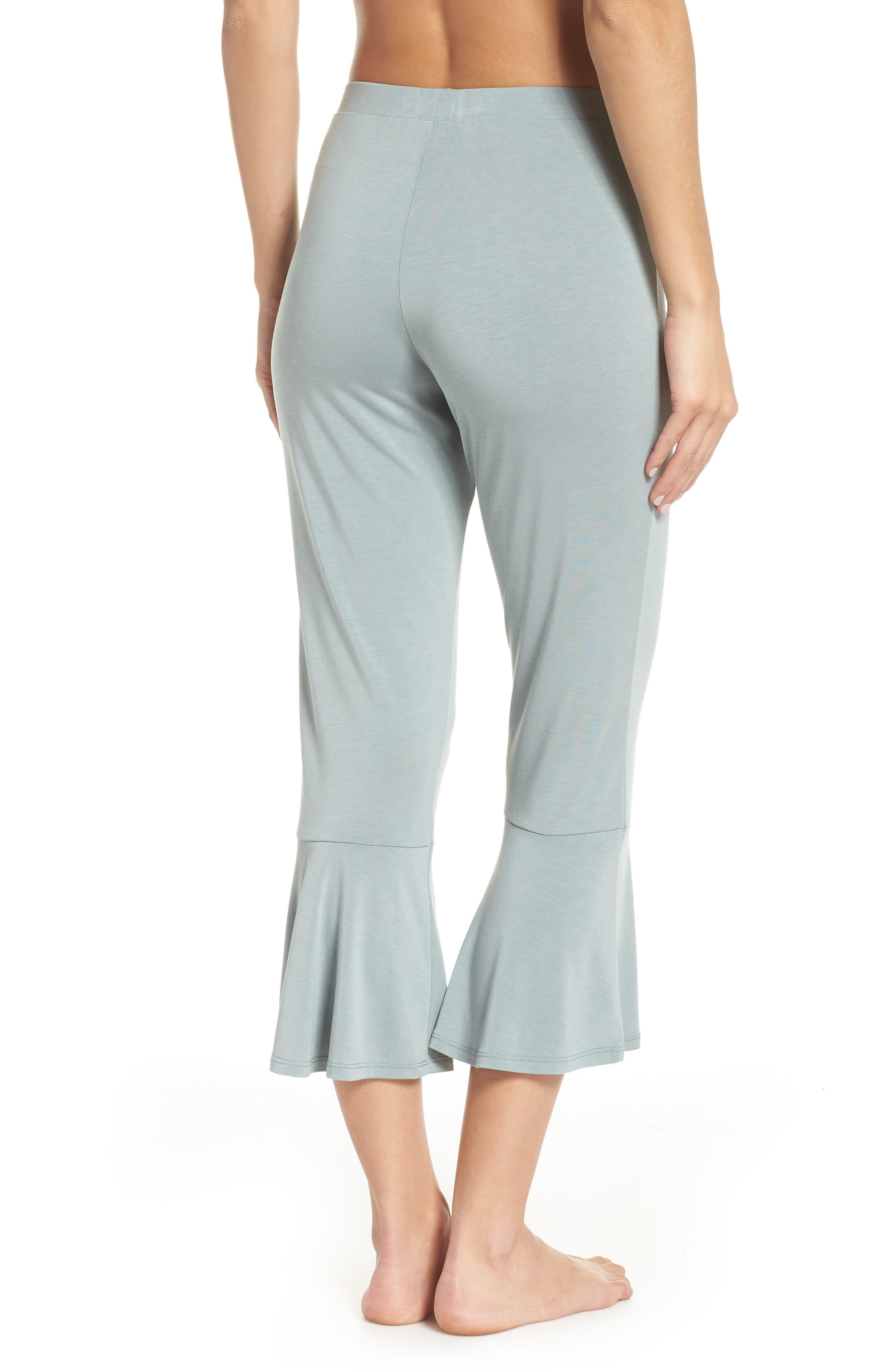 Aden Ruffle Hem Lounge Pants,                             Alternate thumbnail 2, color,                             MINERAL SAGE