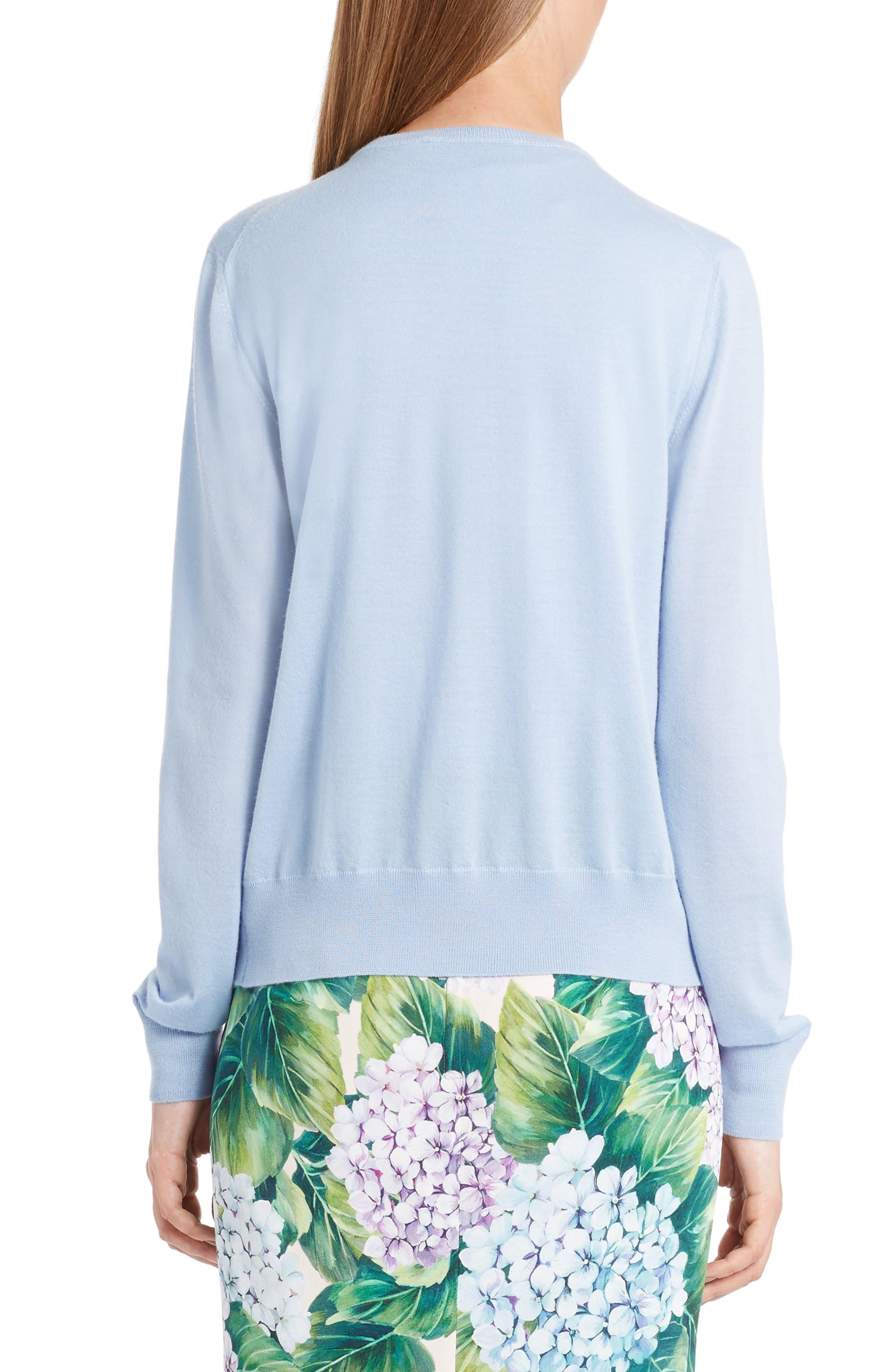 Embellished Cashmere & Silk Button Cardigan,                             Alternate thumbnail 2, color,                             450