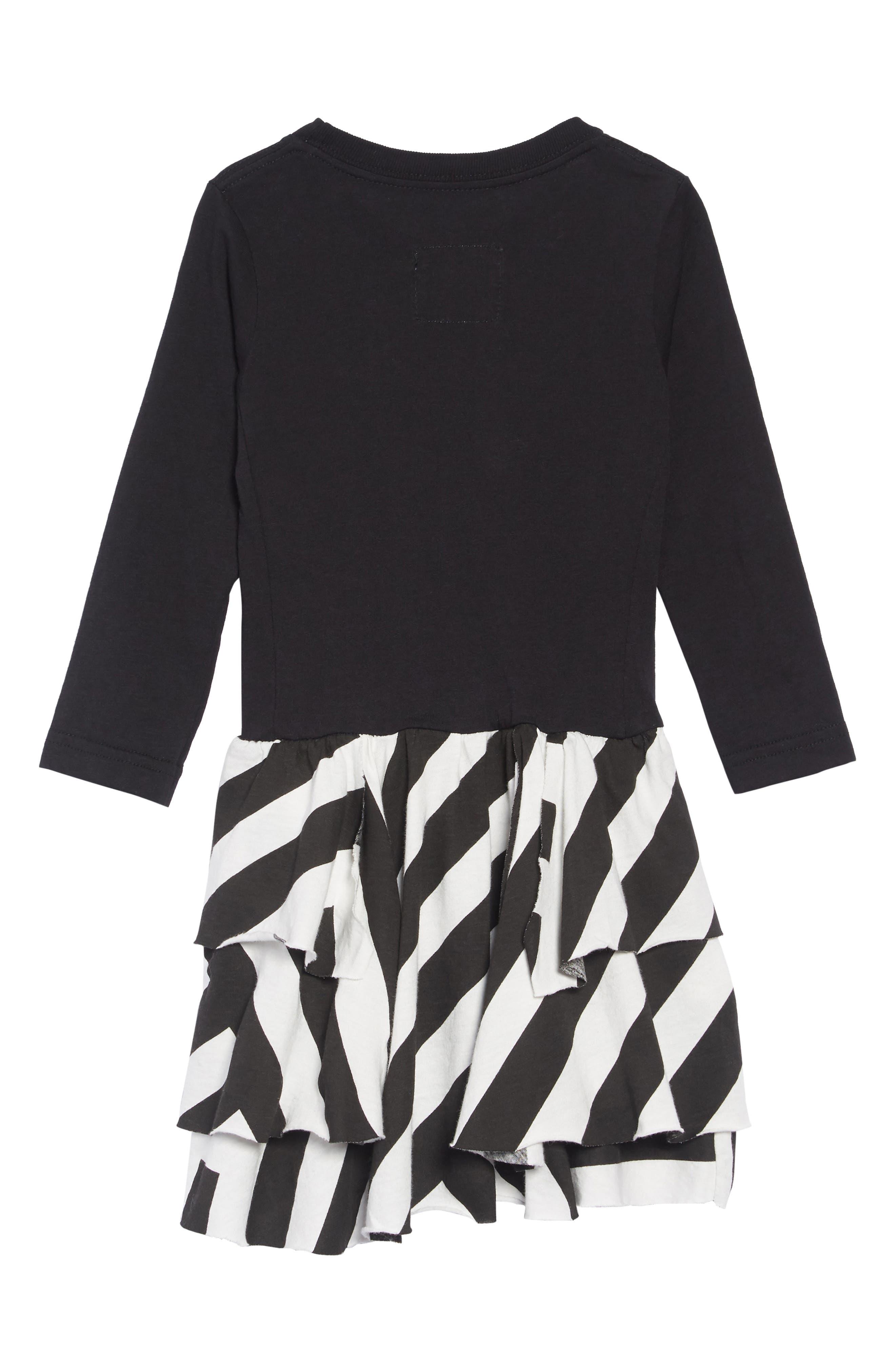 Stripe Dress,                             Alternate thumbnail 2, color,                             BLACK