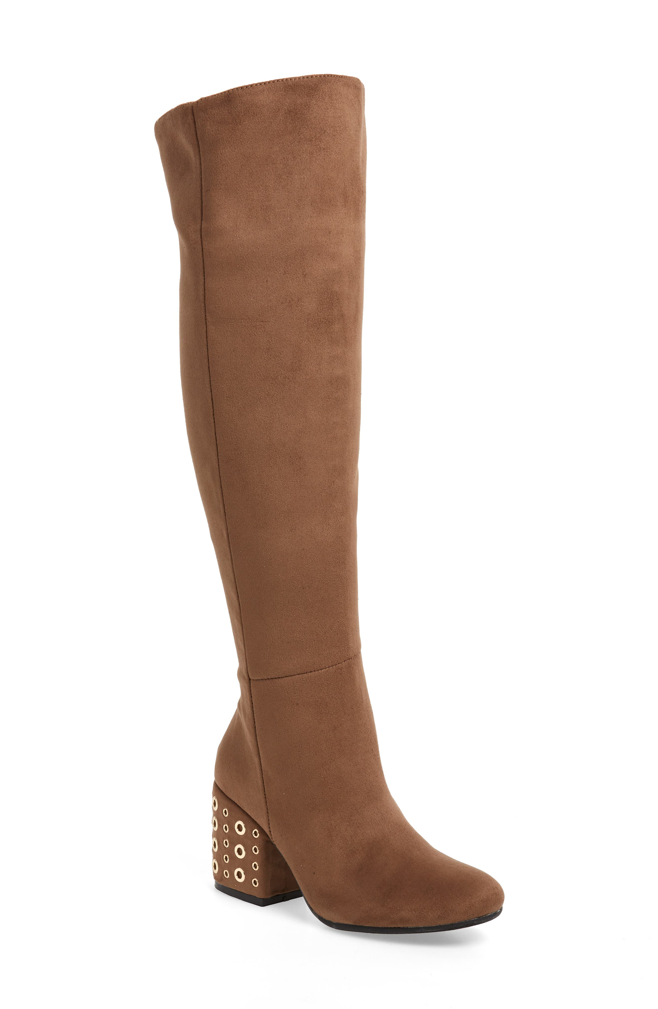 Sbicca Ellaria Over The Knee Boot- Brown