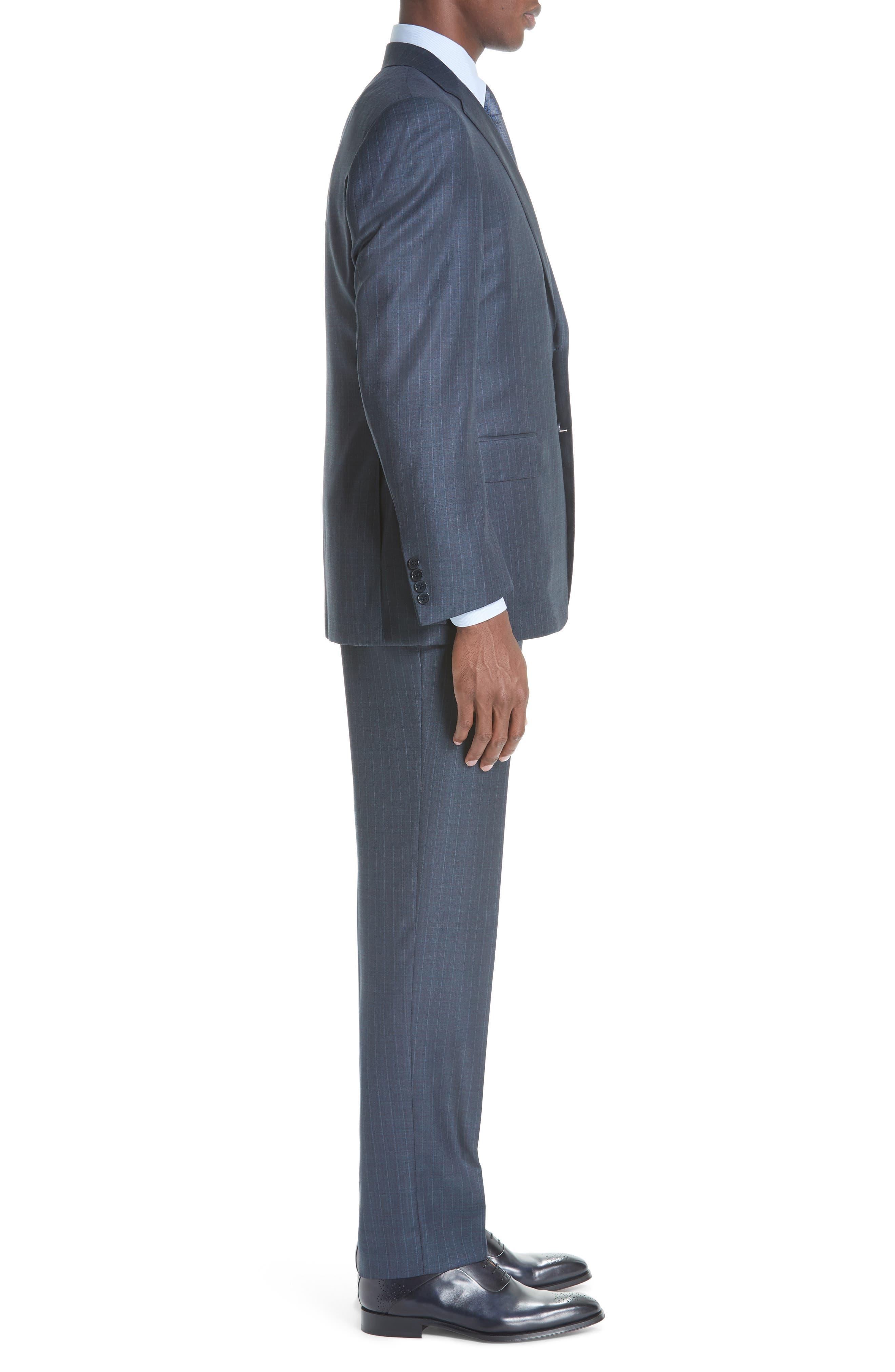 Classic Fit Stripe Wool Suit,                             Alternate thumbnail 3, color,                             400