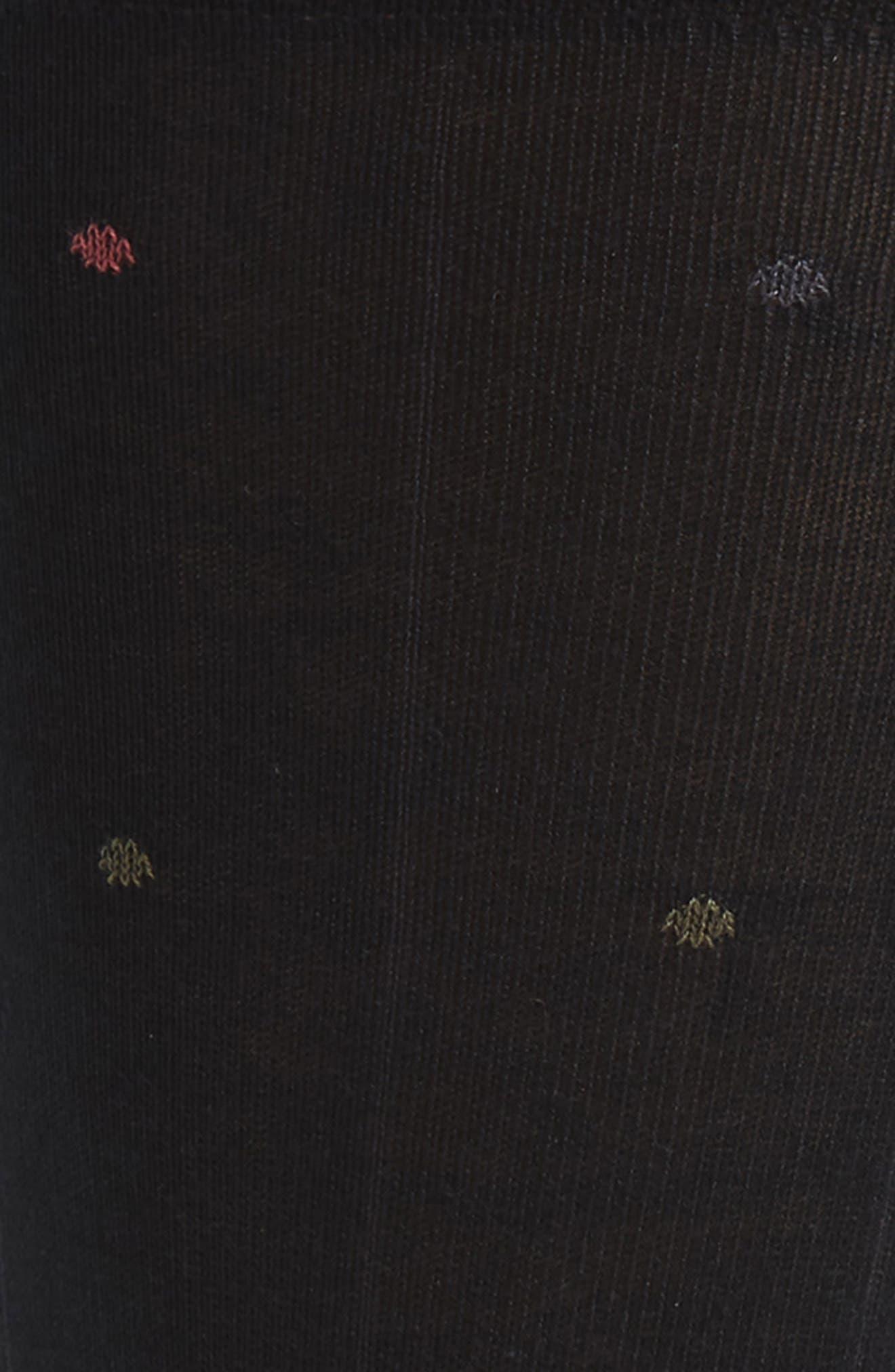 Dot Socks,                             Alternate thumbnail 2, color,                             BLACK/ OLIVE