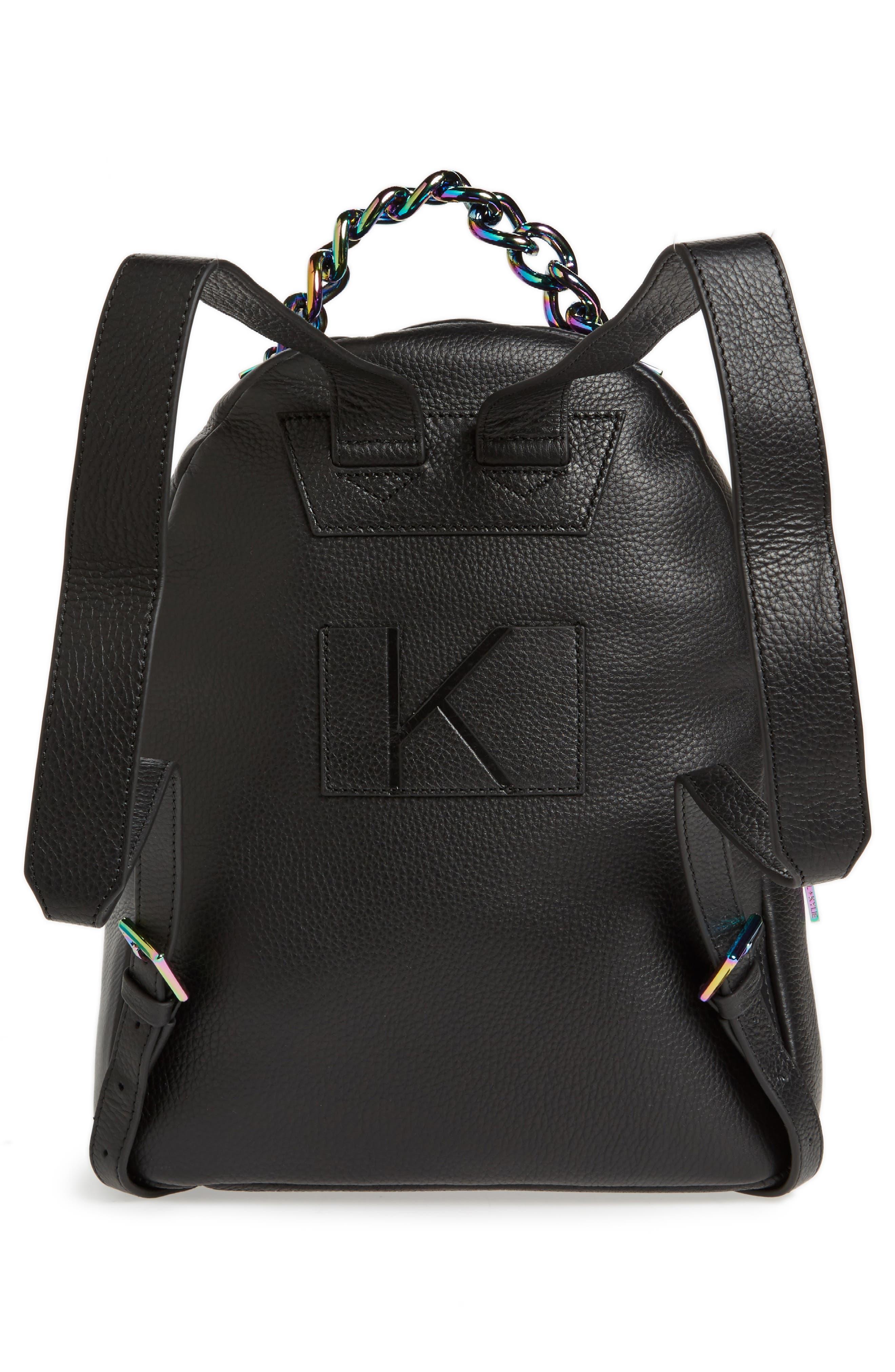 Sloane Iridescent Hardware Leather Backpack,                             Alternate thumbnail 3, color,
