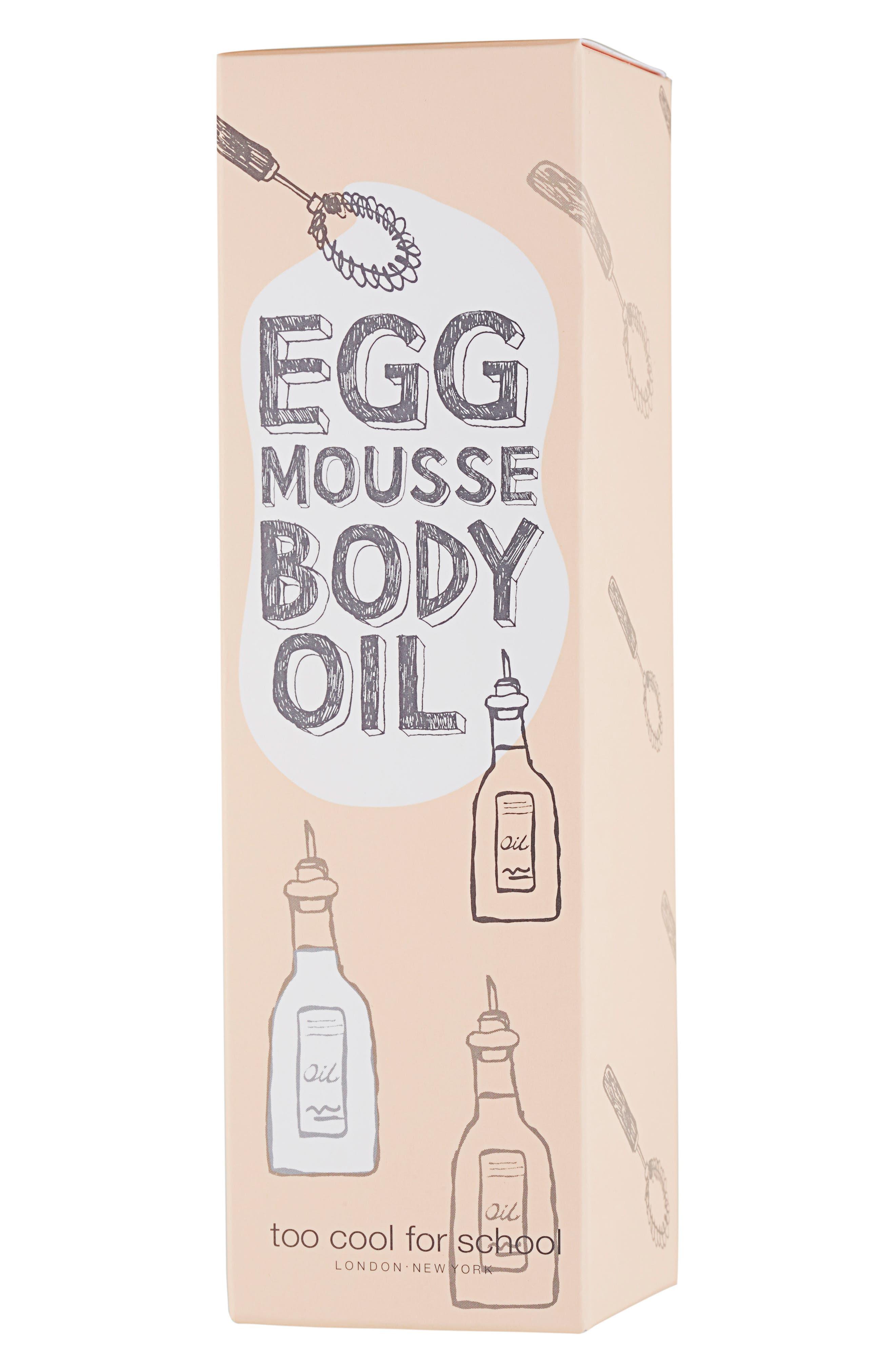 TOO COOL FOR SCHOOL,                             Egg Mousse Body Oil,                             Alternate thumbnail 2, color,                             000