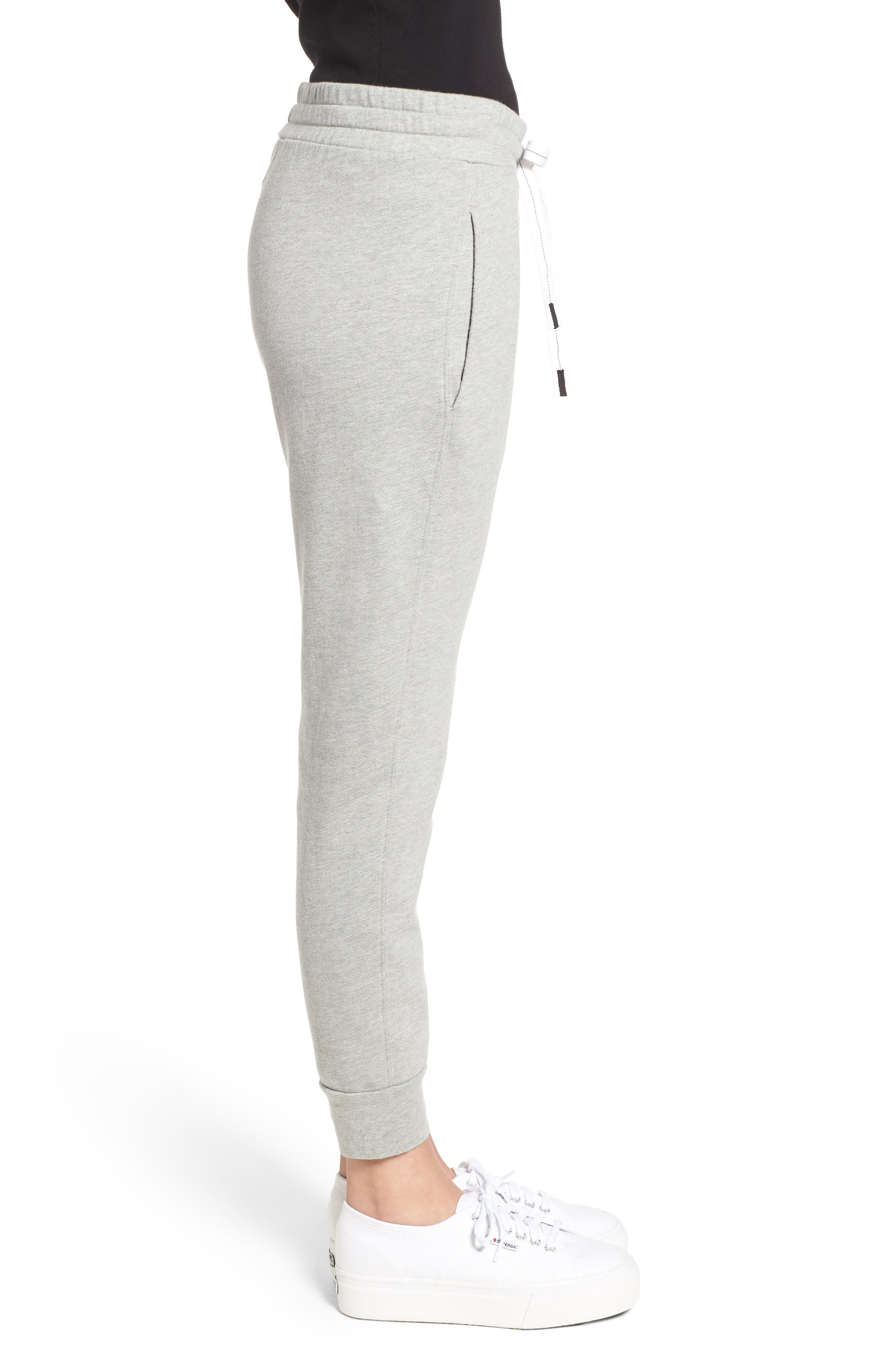 French Terry Joggers,                             Alternate thumbnail 3, color,                             HEATHER GREY
