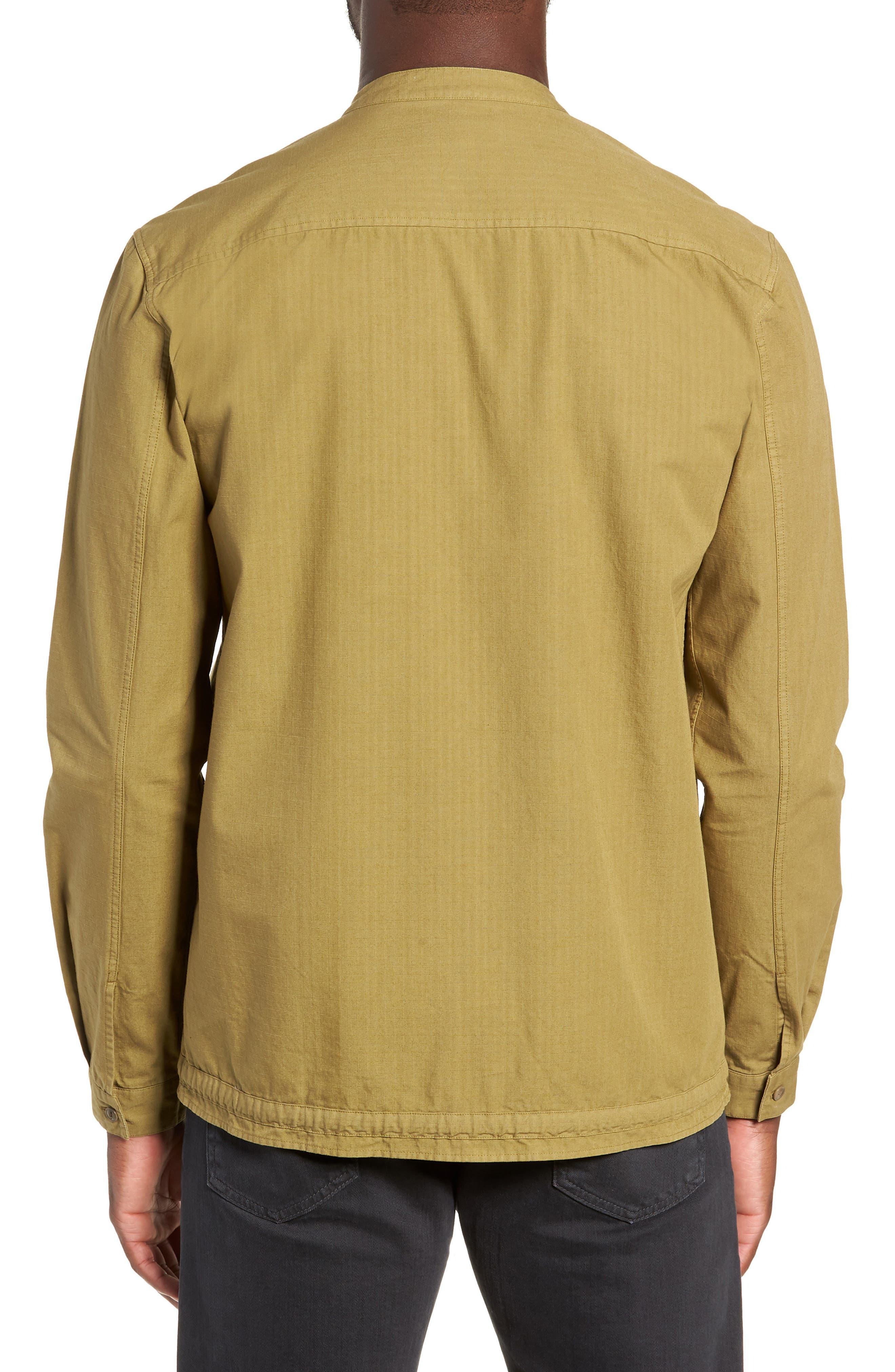 Ripstop Beach Shirt,                             Alternate thumbnail 3, color,                             GREEN