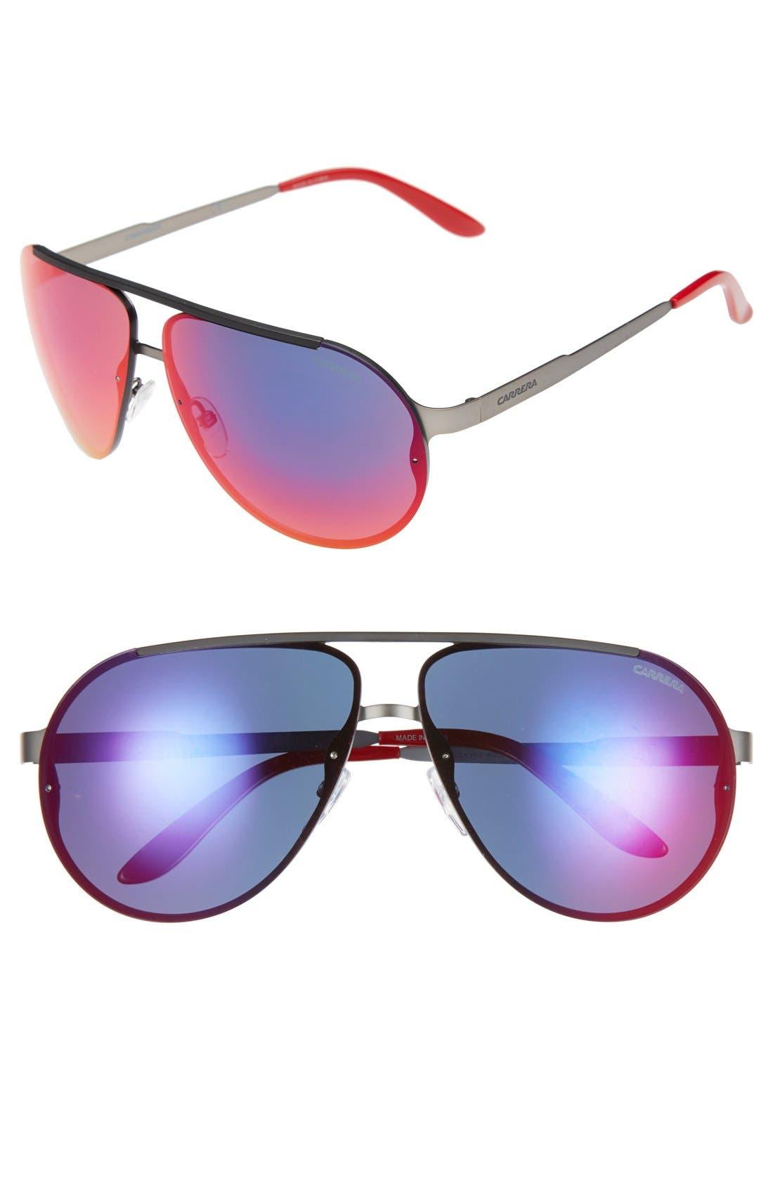 65mm Aviator Sunglasses,                             Main thumbnail 3, color,