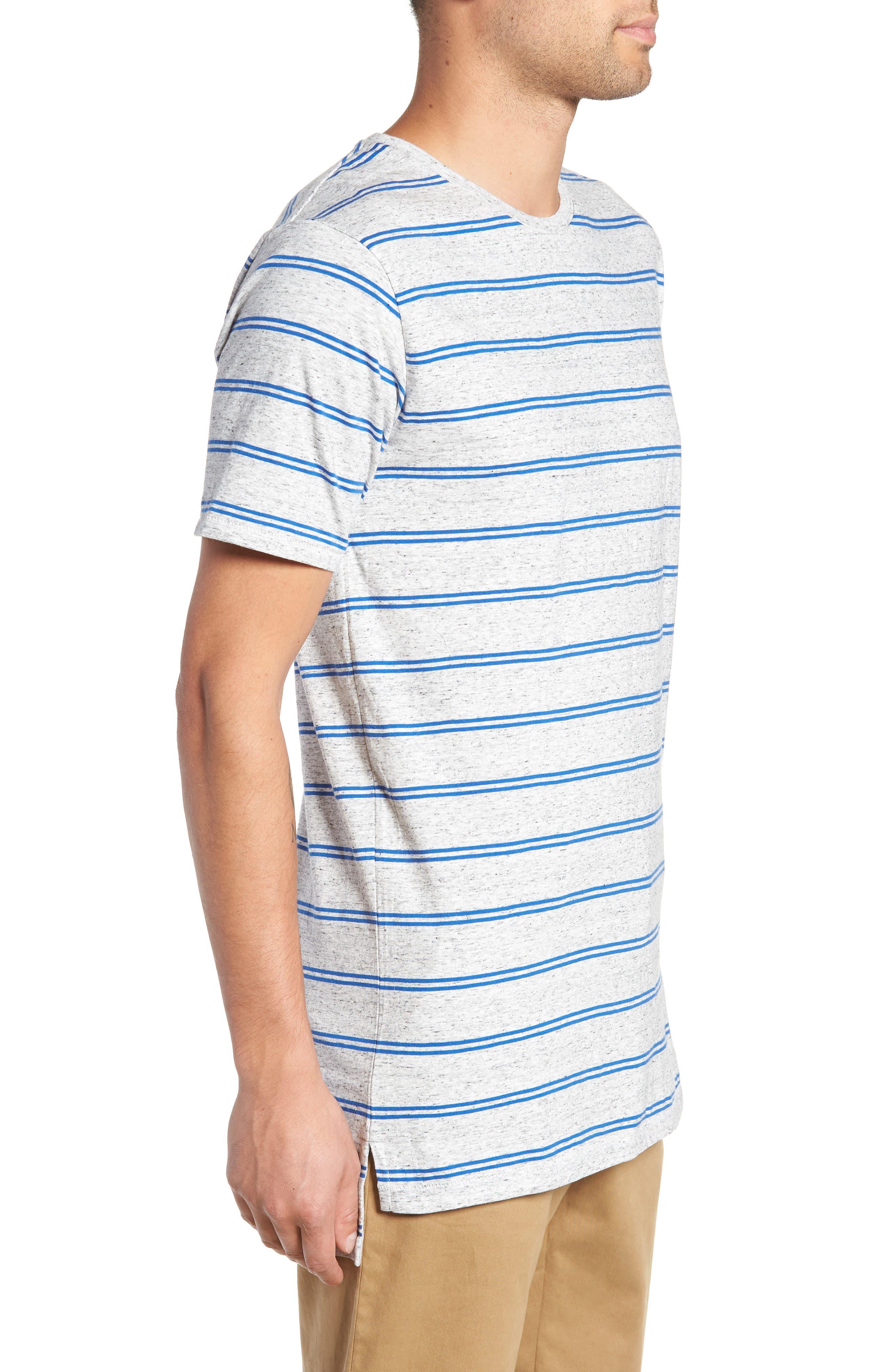 Flintlock T-Shirt,                             Alternate thumbnail 3, color,                             STORM MARLE/ COBALT
