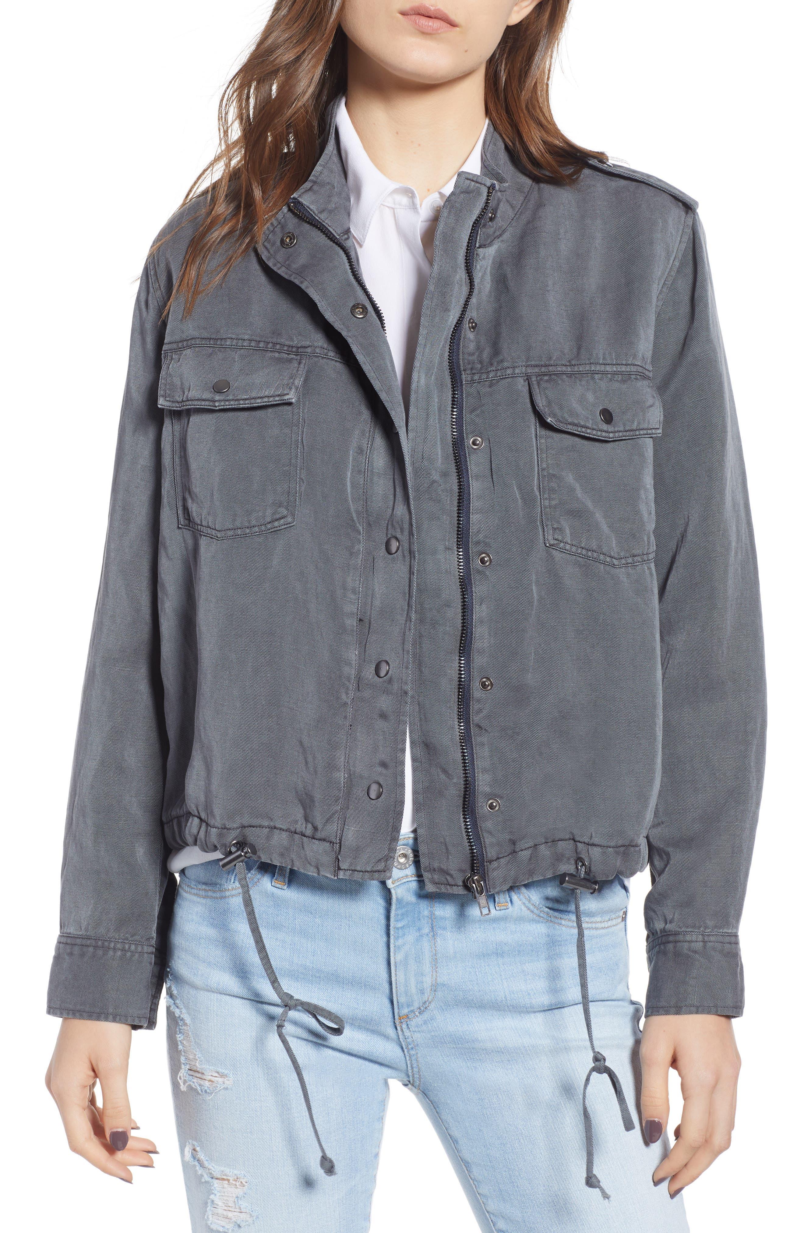 Collins Military Jacket,                             Main thumbnail 1, color,                             LIGHT CHARCOAL