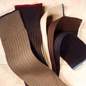 Cotton Blend Socks,                             Alternate thumbnail 3, color,                             BLACK HEATHER
