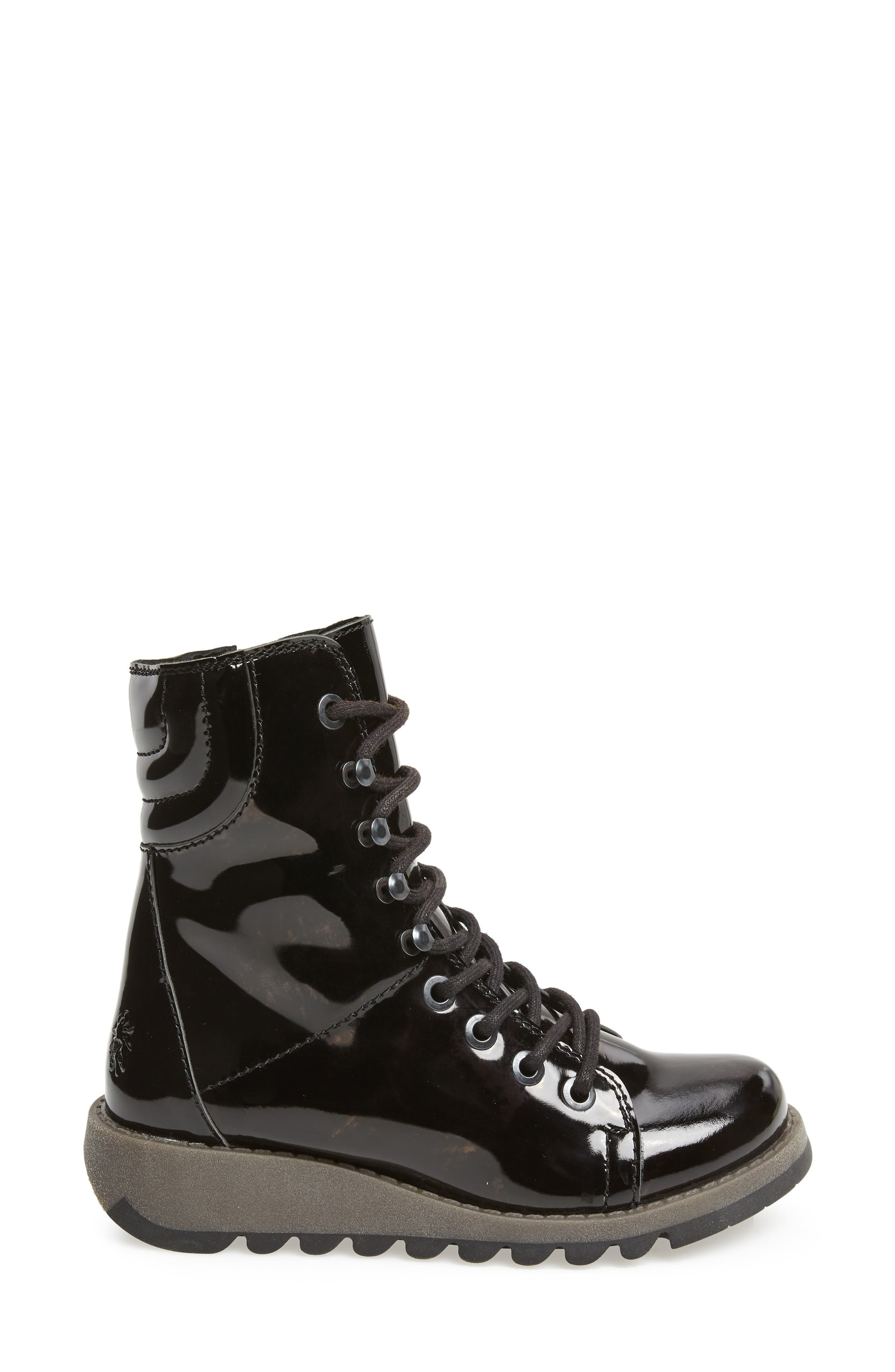 Same Lace-Up Boot,                             Alternate thumbnail 3, color,                             BLACK