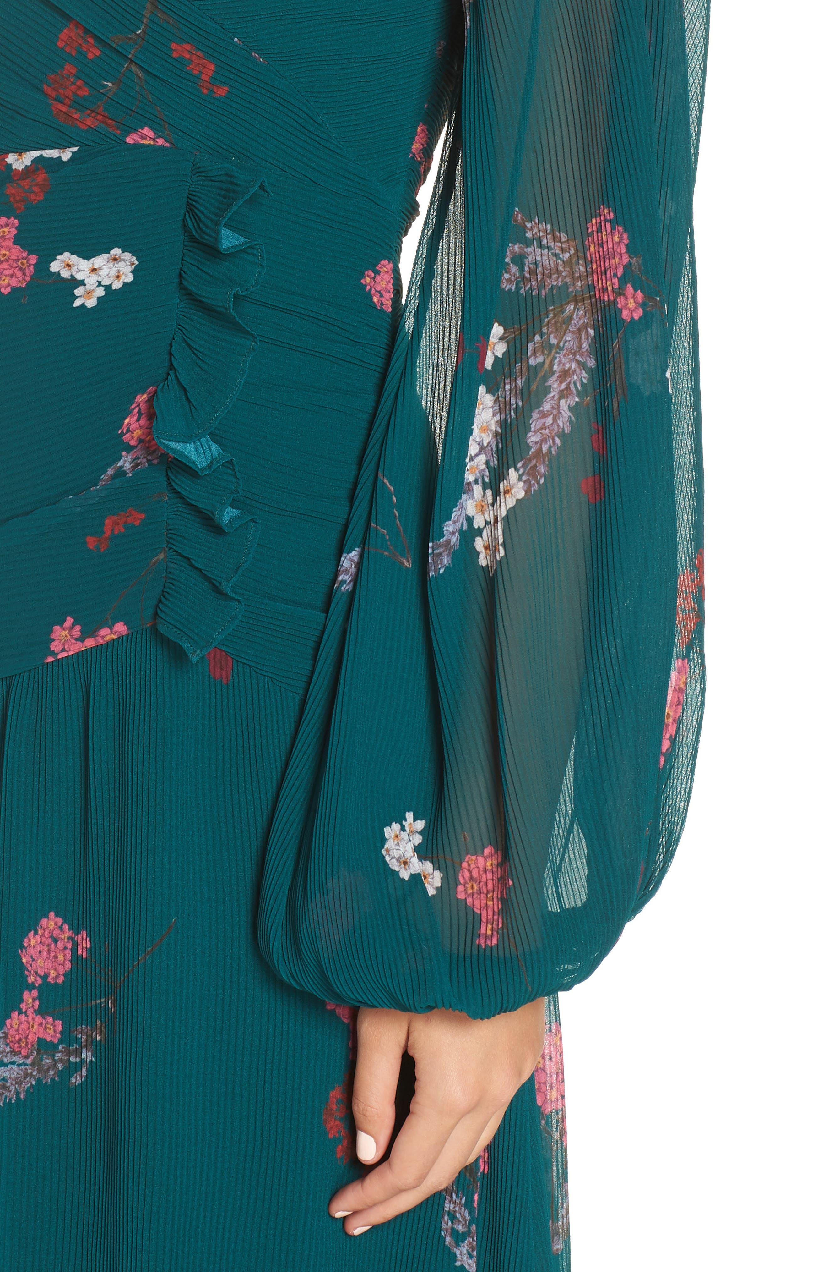 Night Fall Midi Dress,                             Alternate thumbnail 4, color,                             310