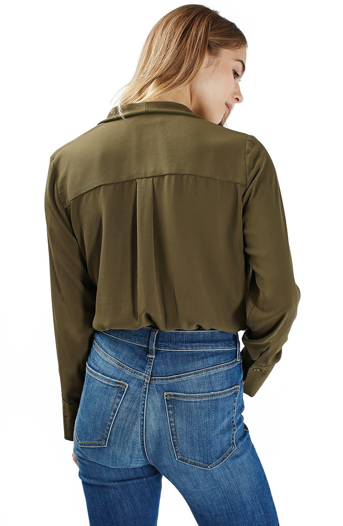 Faux Wrap Shirt Bodysuit,                             Alternate thumbnail 4, color,                             300