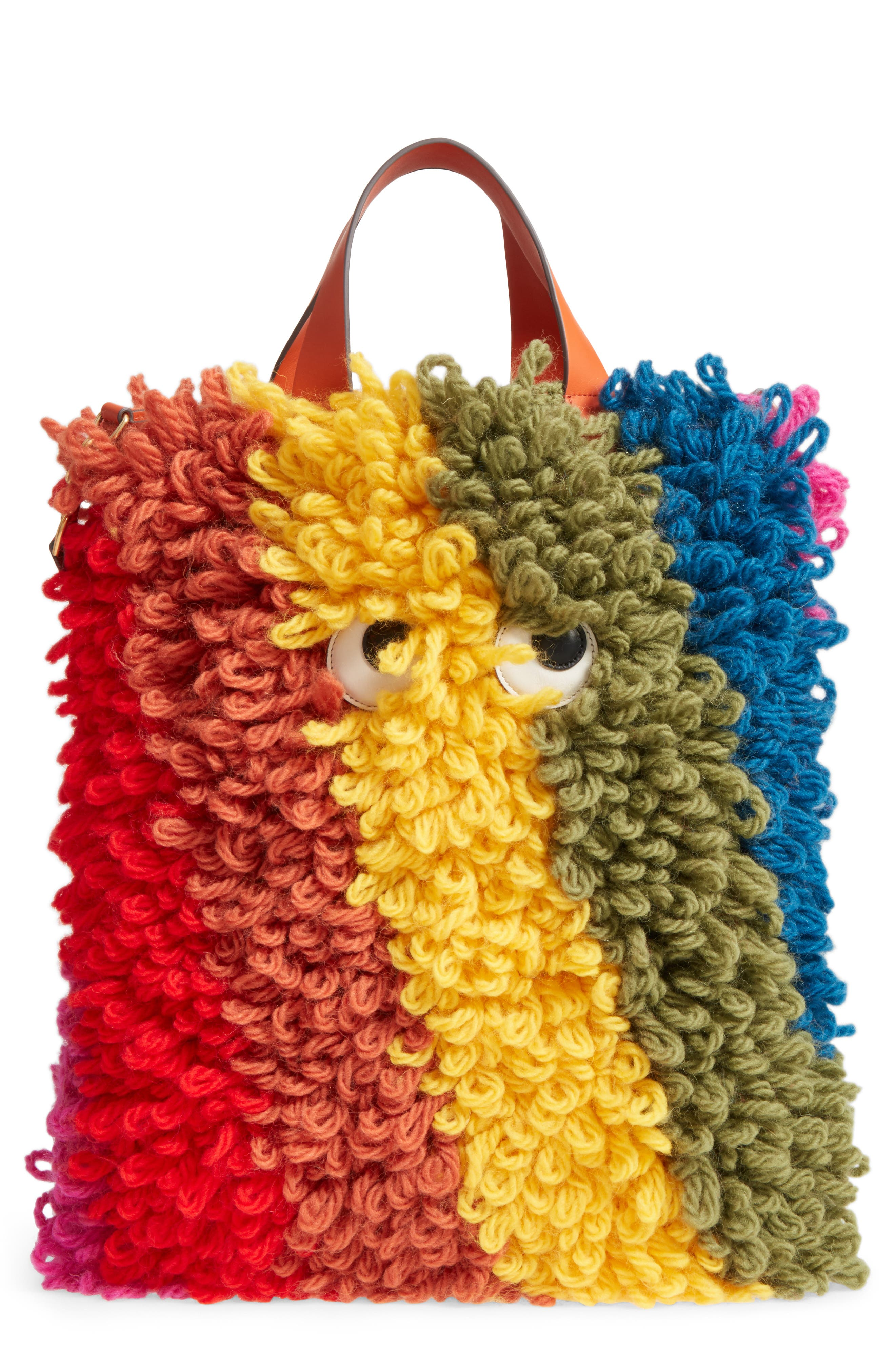 Shag Eyes Chunky Wool Shopper,                         Main,                         color, 980