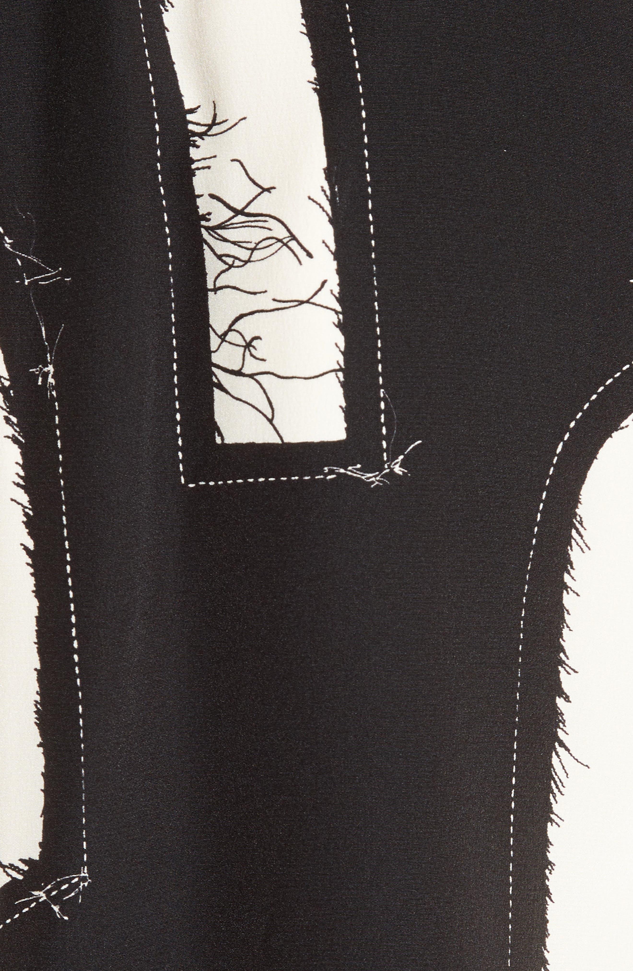Agiato Print Silk Dress,                             Alternate thumbnail 5, color,