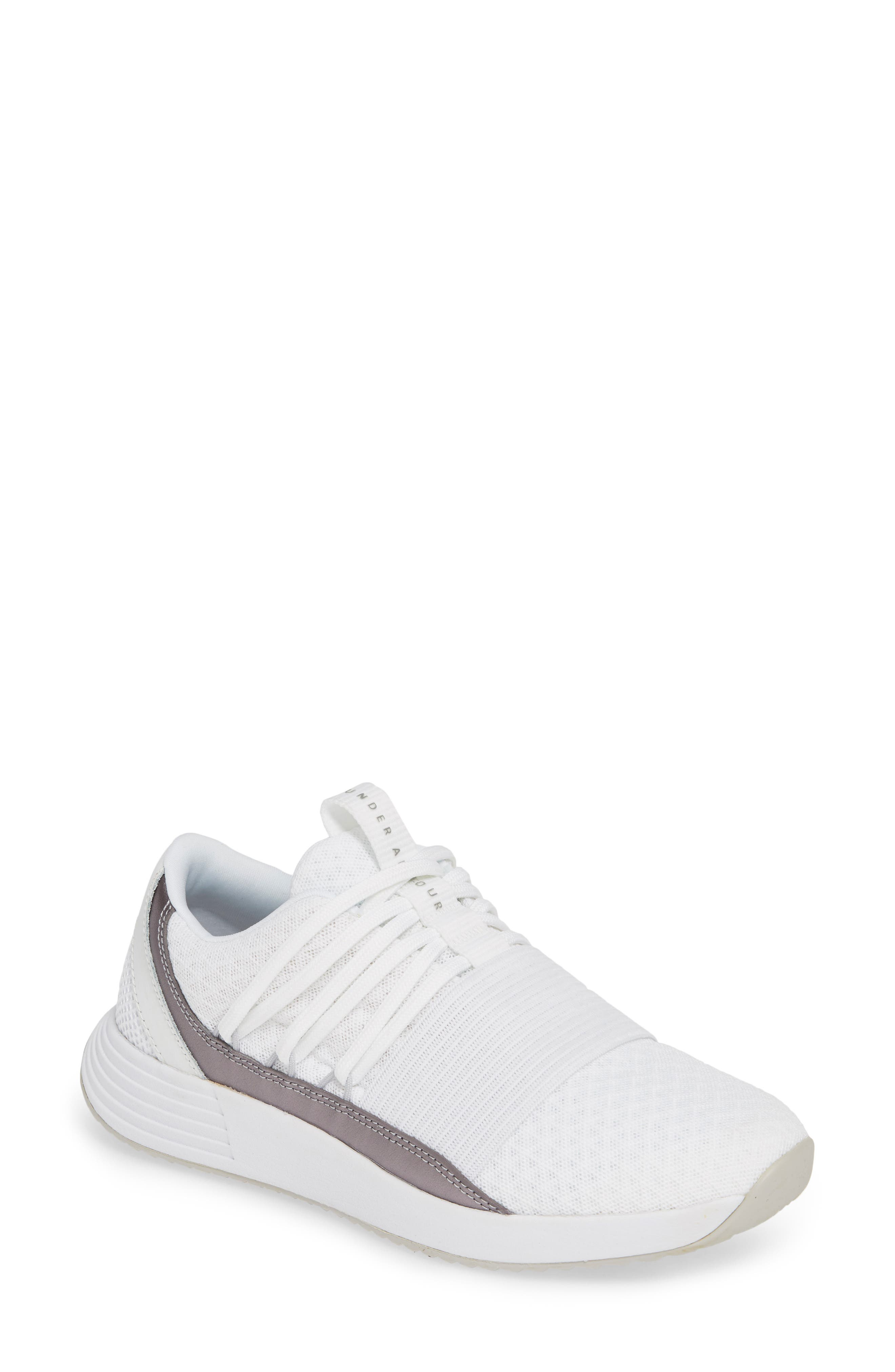 UNDER ARMOUR,                             Breathe Lace X NM Sneaker,                             Main thumbnail 1, color,                             WHITE/ WHITE/ METALLIC BLUSH