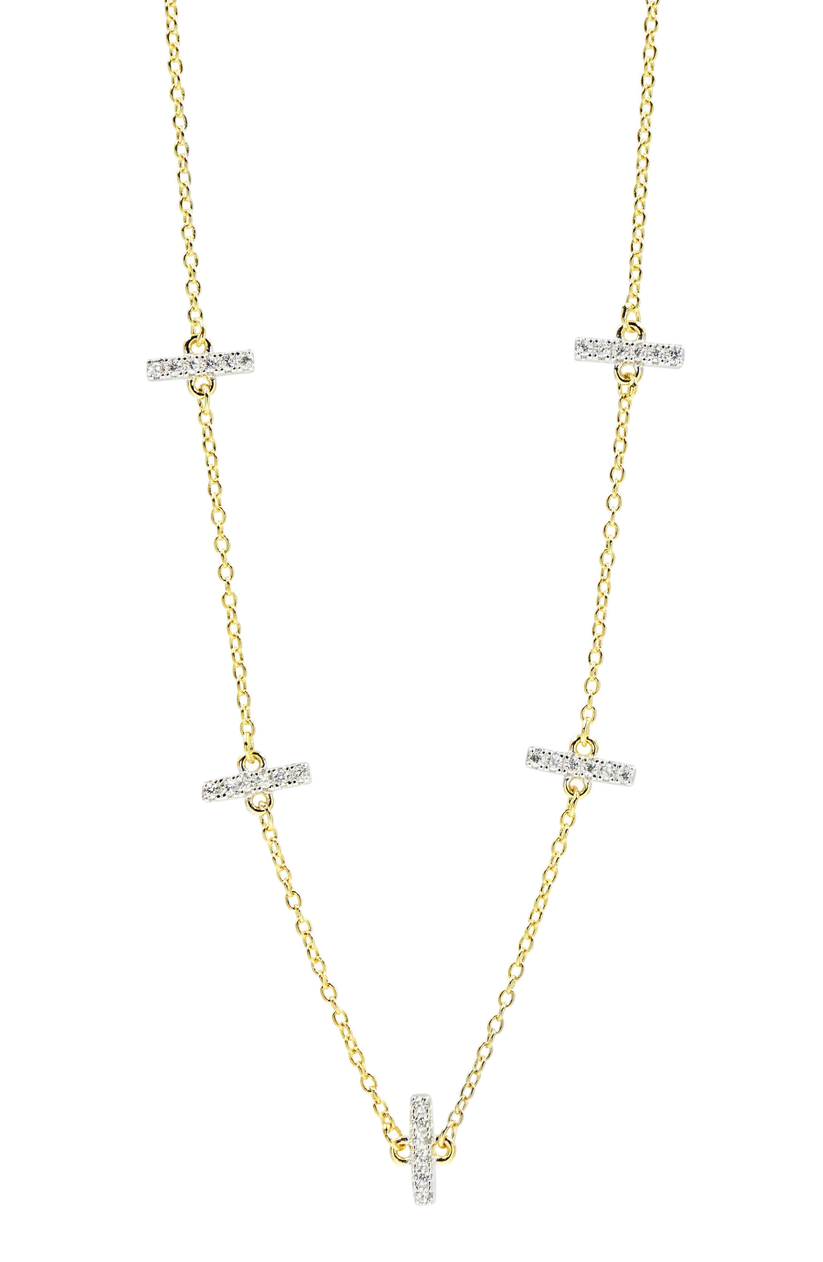 Freida Rothman Jewelry RADIANCE CRYSTAL STATION NECKLACE
