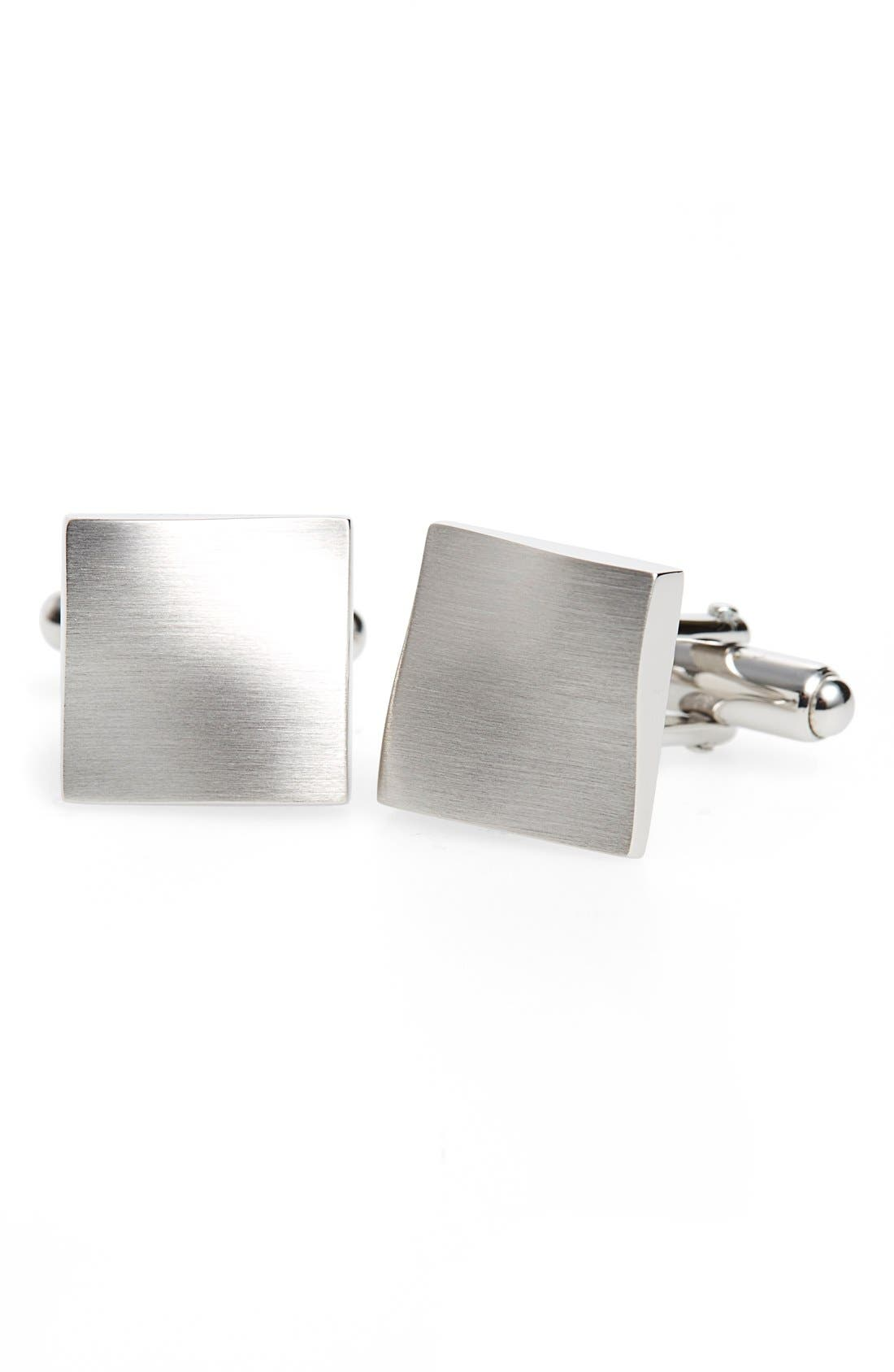 'Twisted Plaque' Square Cuff Links,                             Main thumbnail 2, color,