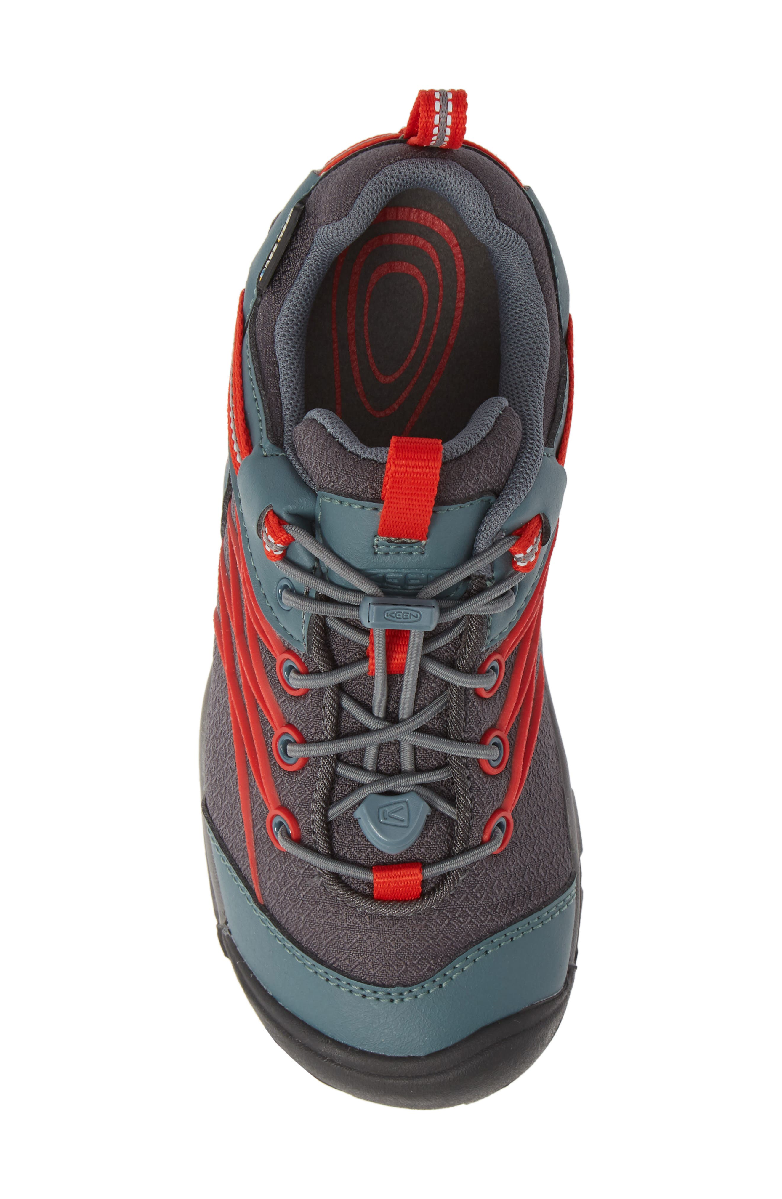 Chandler CNX Waterproof Sneaker,                             Alternate thumbnail 5, color,                             STORMY/ RED