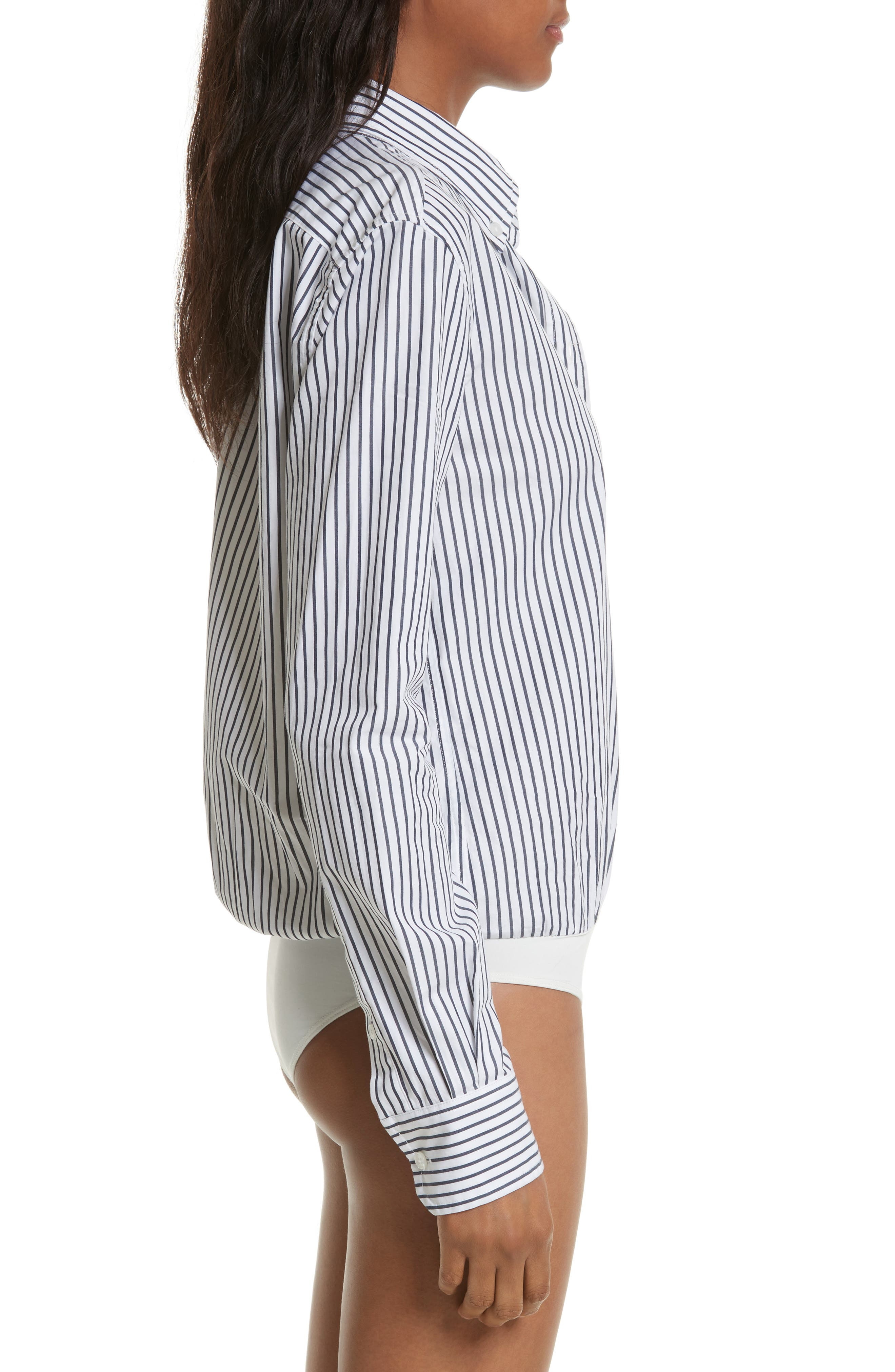 Stripe Bodysuit,                             Alternate thumbnail 4, color,