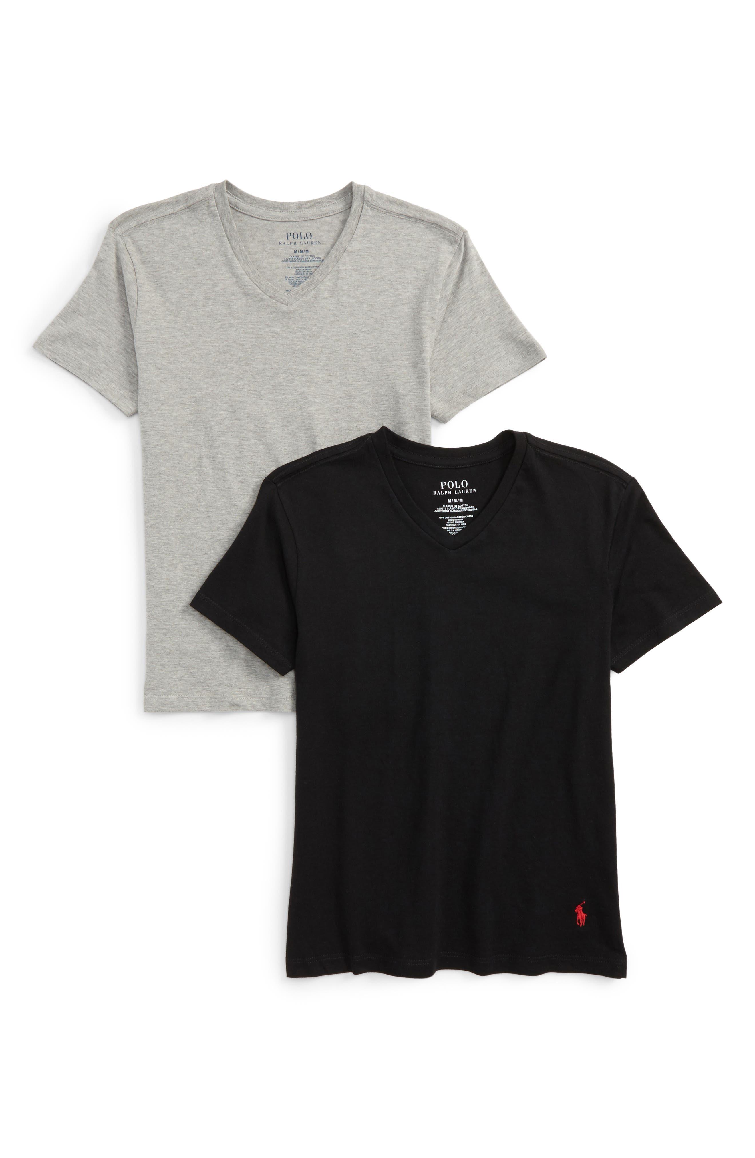 2-Pack V-Neck T-Shirts,                         Main,                         color, 020