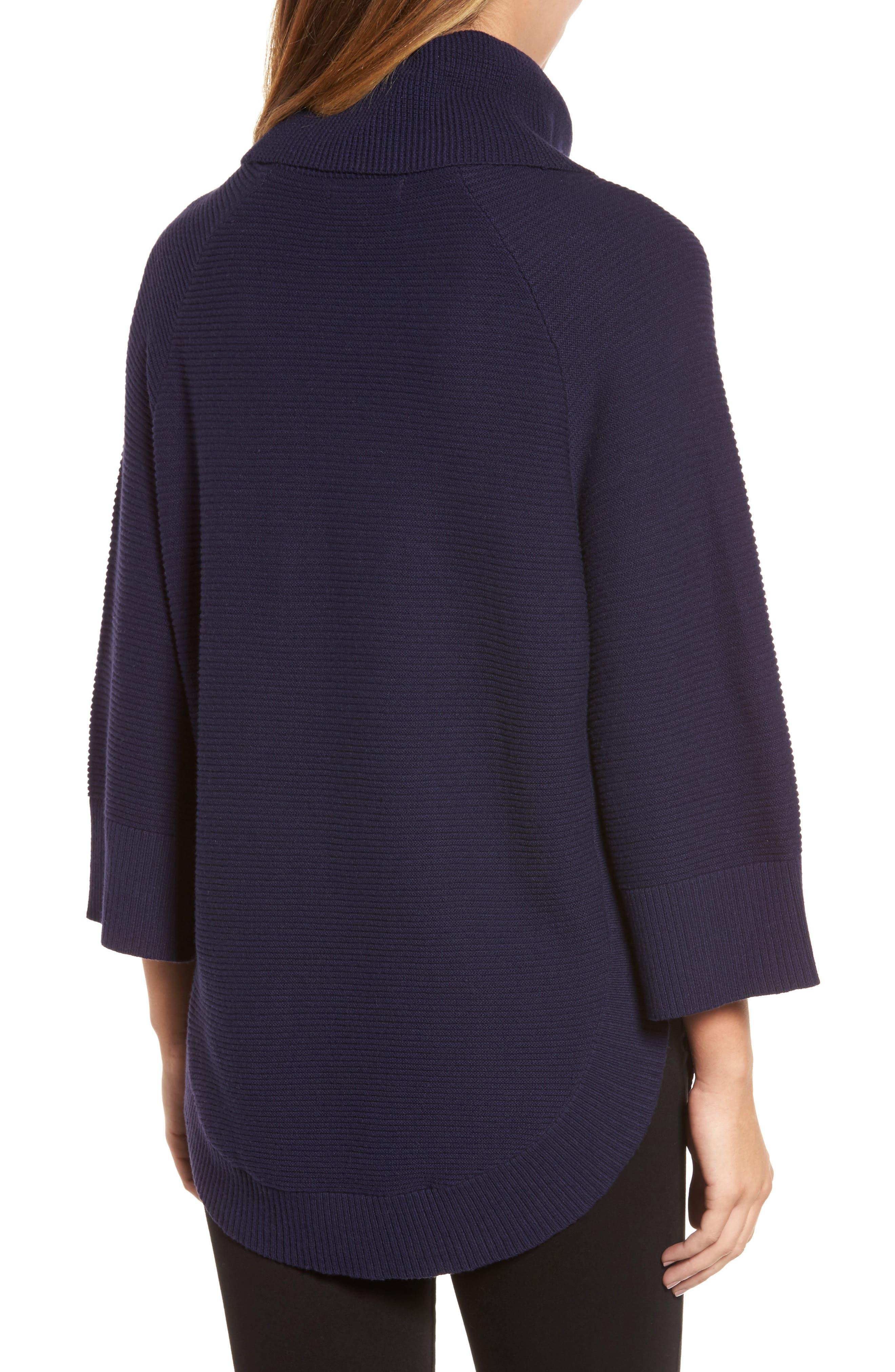 Cowl Neck Shirttail Hem Sweater,                             Alternate thumbnail 5, color,