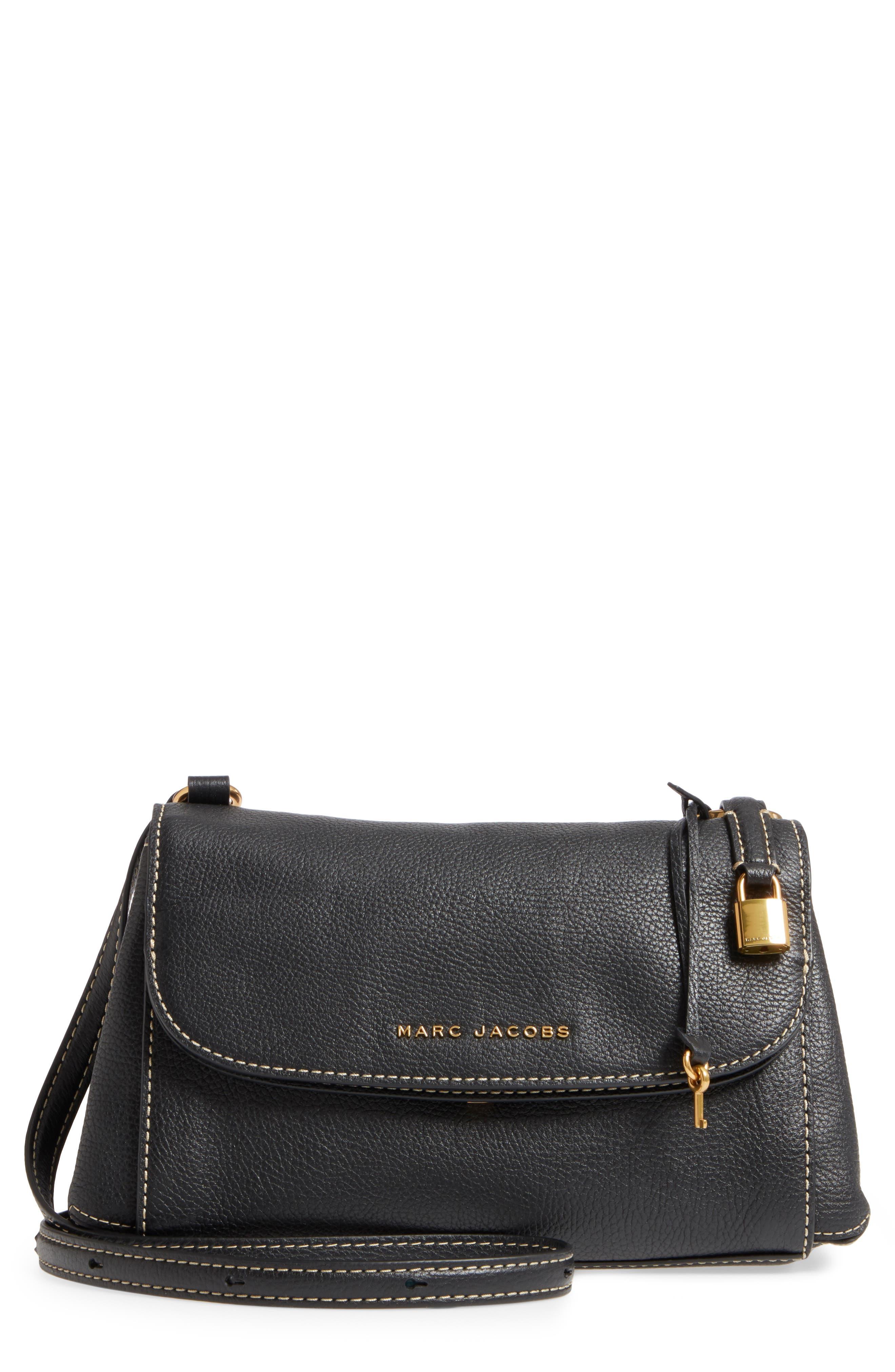 The Grind Boho Leather Shoulder Bag,                         Main,                         color, BLACK/ GOLD