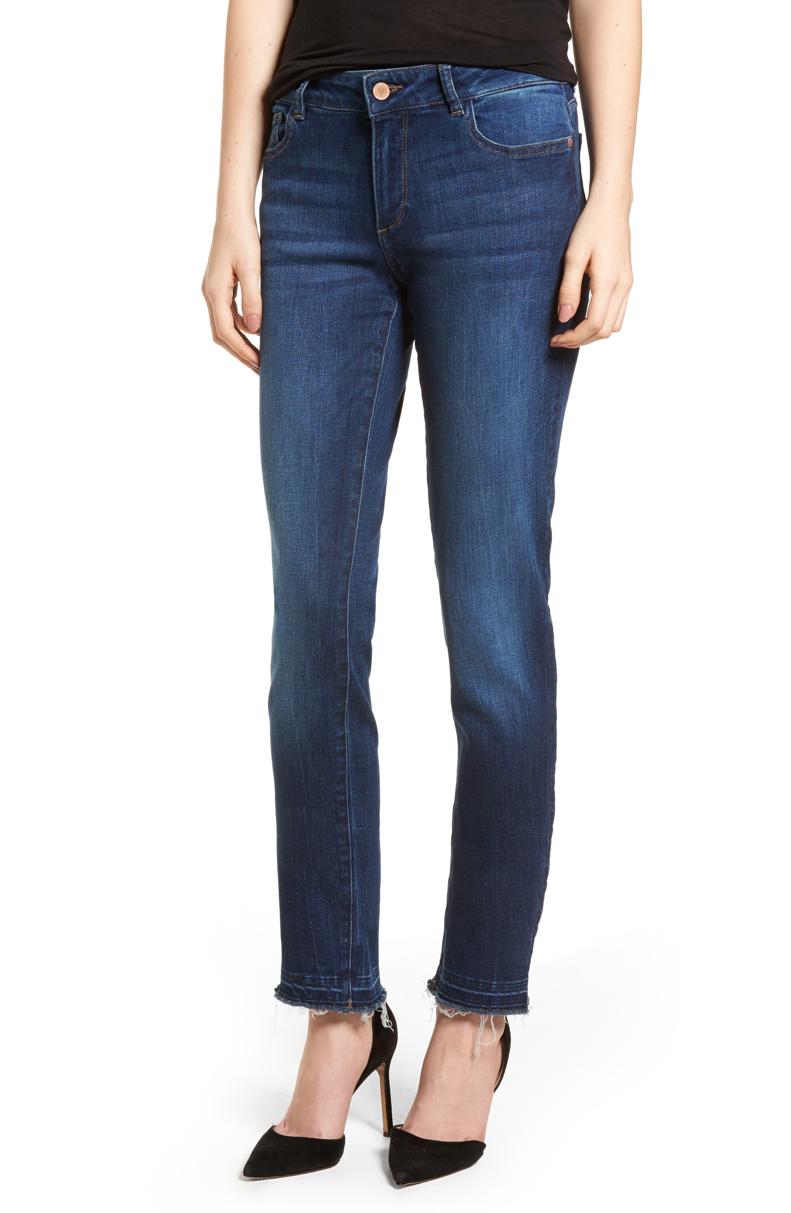Coco Curvy Slim Straight Leg Jeans,                         Main,                         color, 405