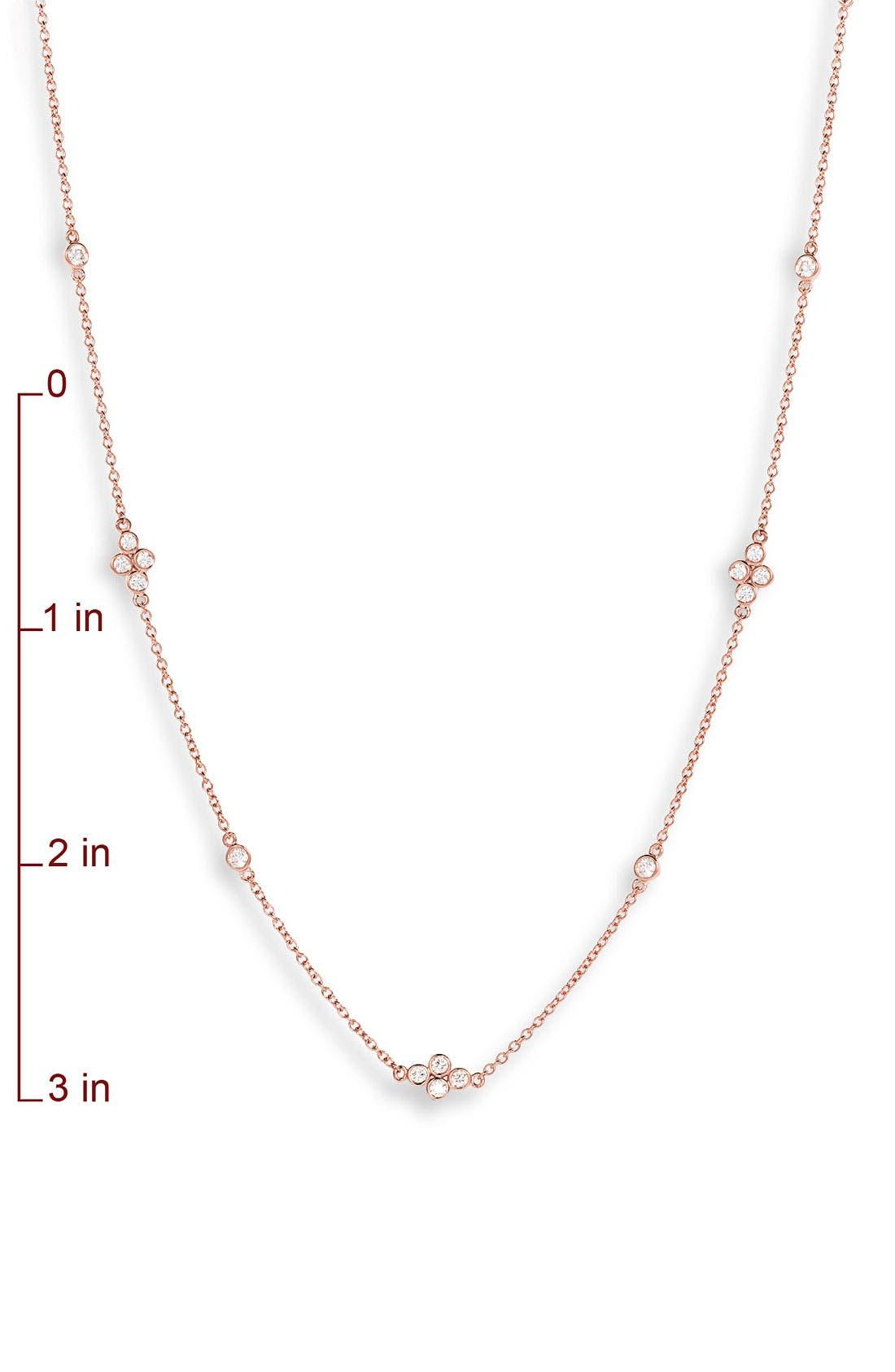KWIAT,                             'Diamond Strings' Long Diamond Station Necklace,                             Alternate thumbnail 2, color,                             710