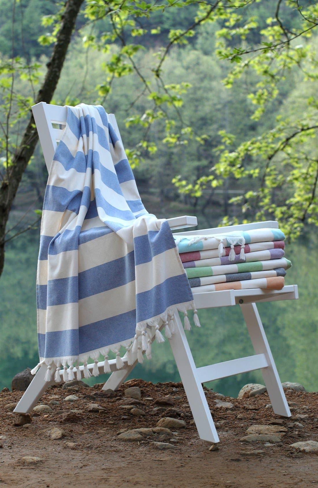 'Patara' Turkish Pestemal Towel,                             Alternate thumbnail 5, color,                             ROYAL BLUE
