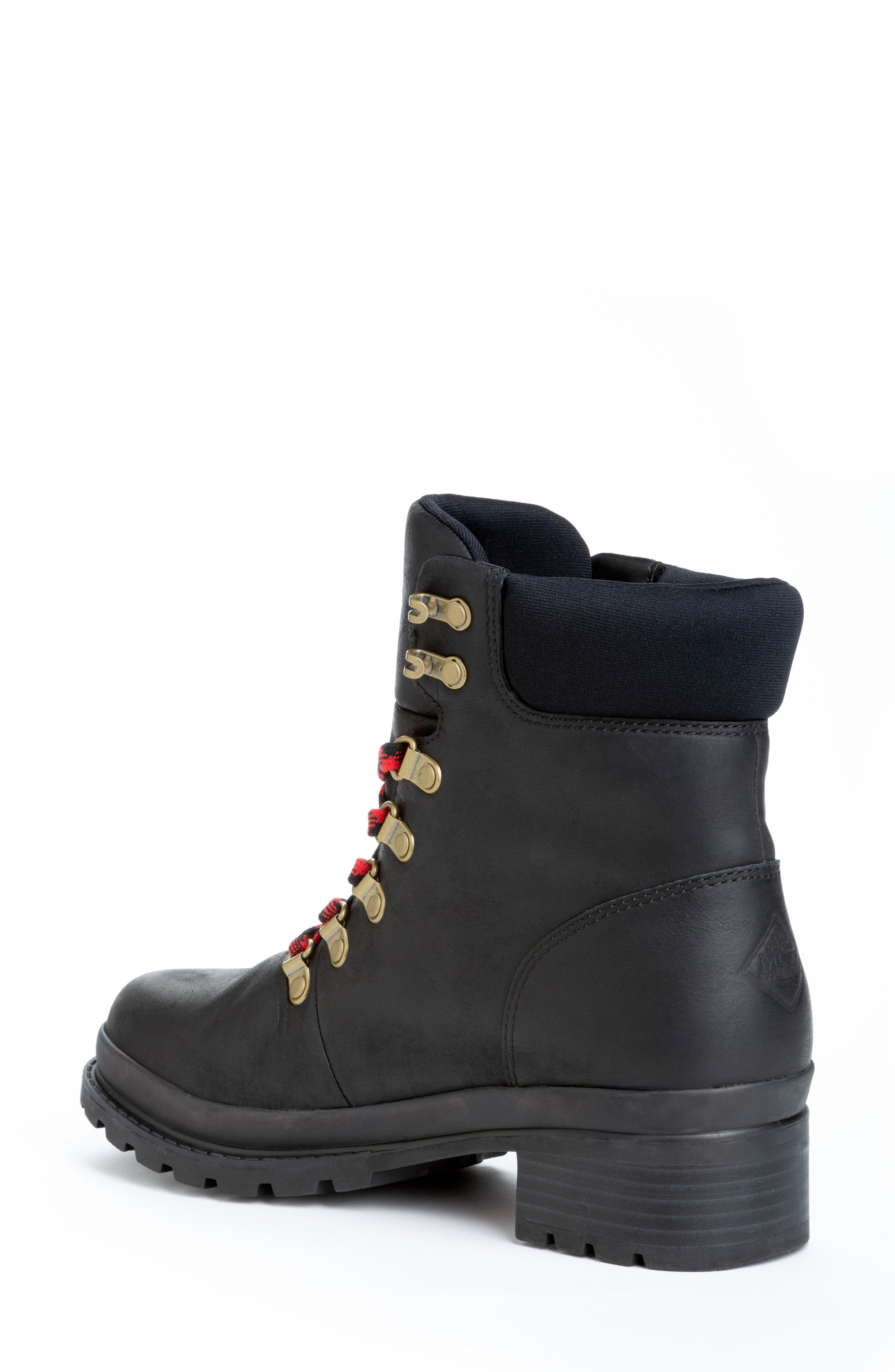 Liberty Alpine Waterproof Hiker Boot,                             Alternate thumbnail 2, color,                             BLACK LEATHER
