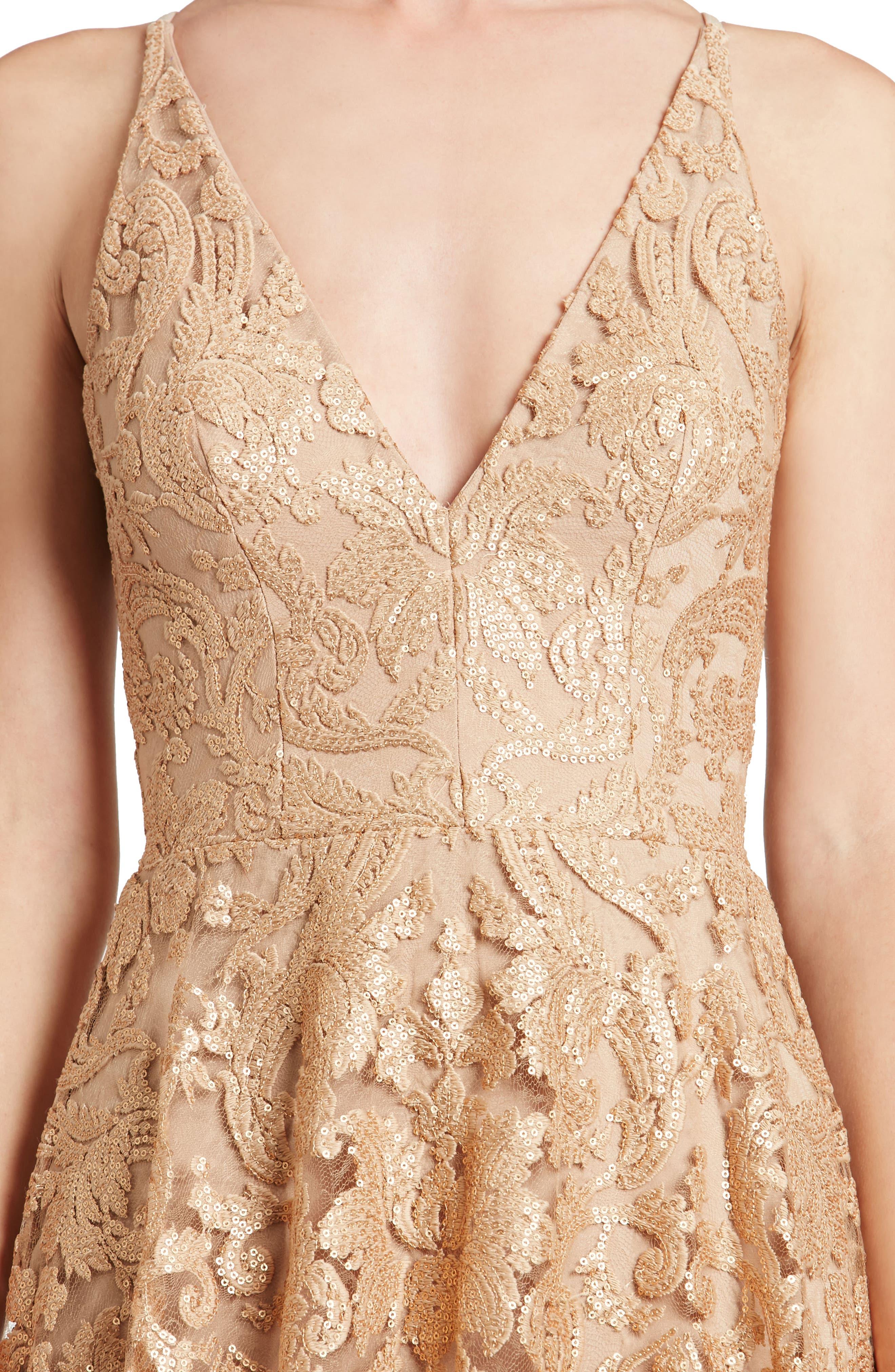 Blair Embellished Fit & Flare Dress,                             Alternate thumbnail 28, color,
