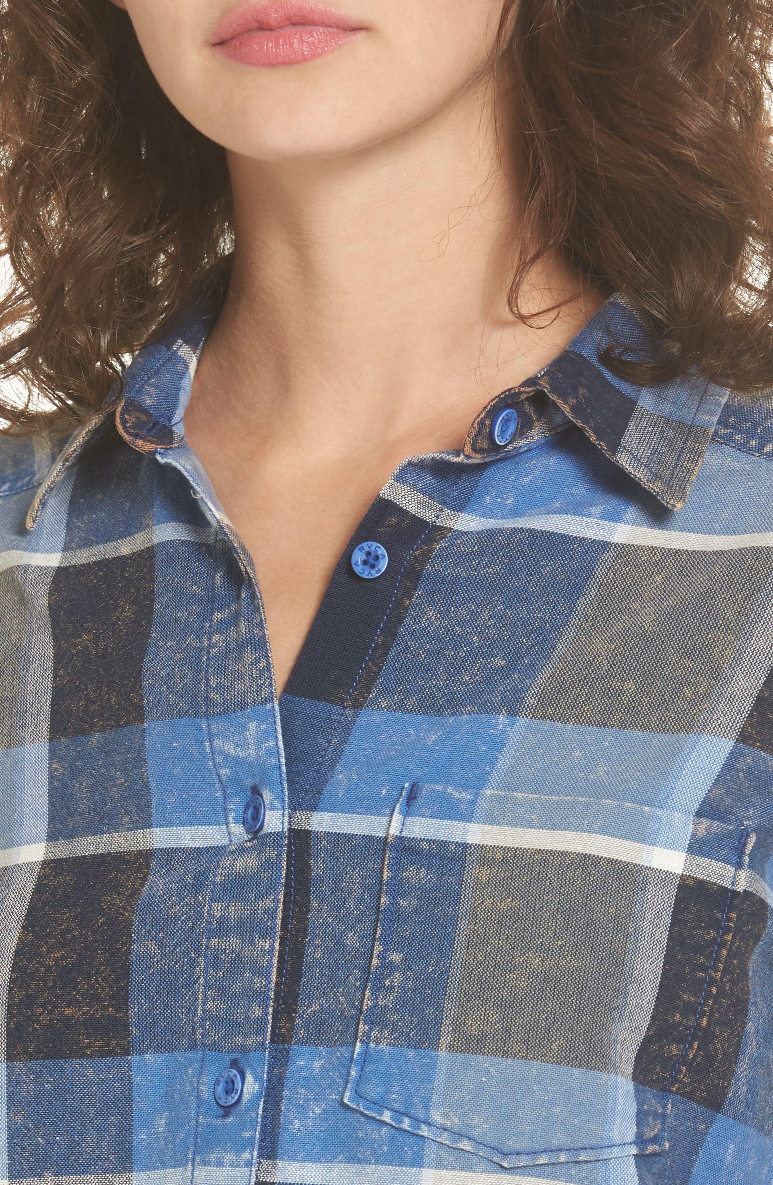 Pops Cotton Plaid Shirt,                             Alternate thumbnail 4, color,                             400