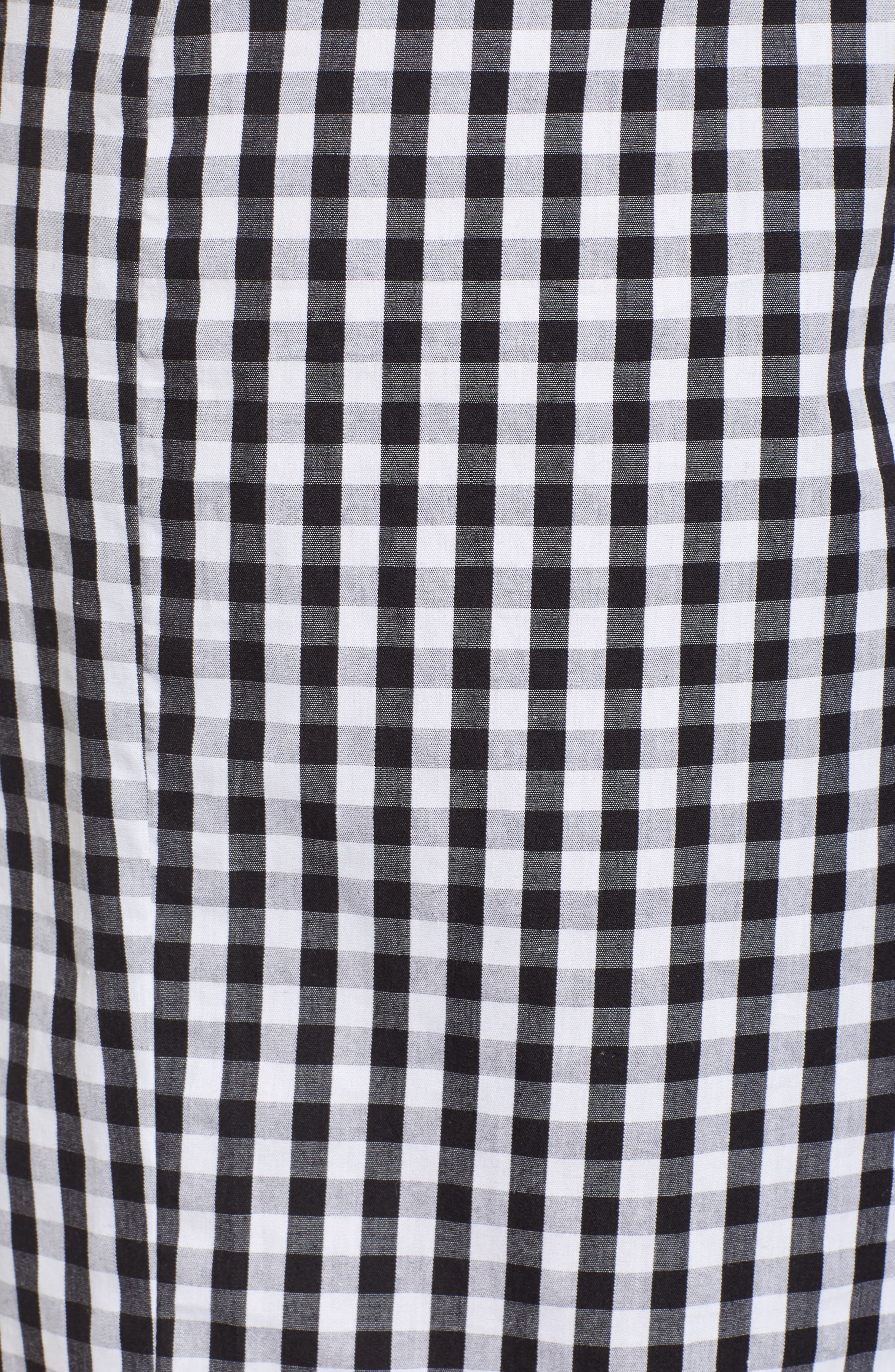 Gingham Tie Waist Skirt,                             Alternate thumbnail 5, color,                             001