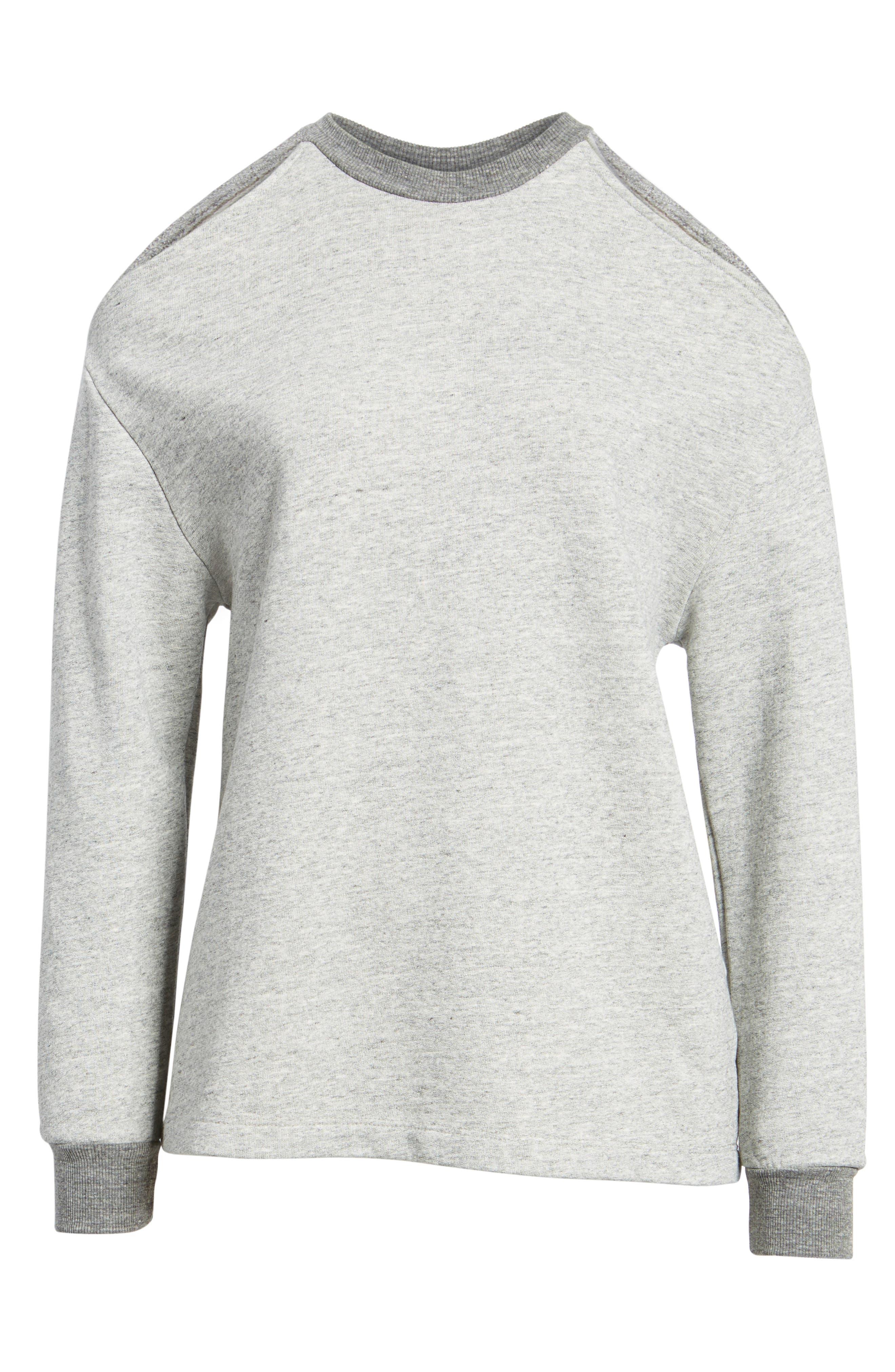 Gizi Cold Shoulder Sweatshirt,                             Alternate thumbnail 6, color,                             022