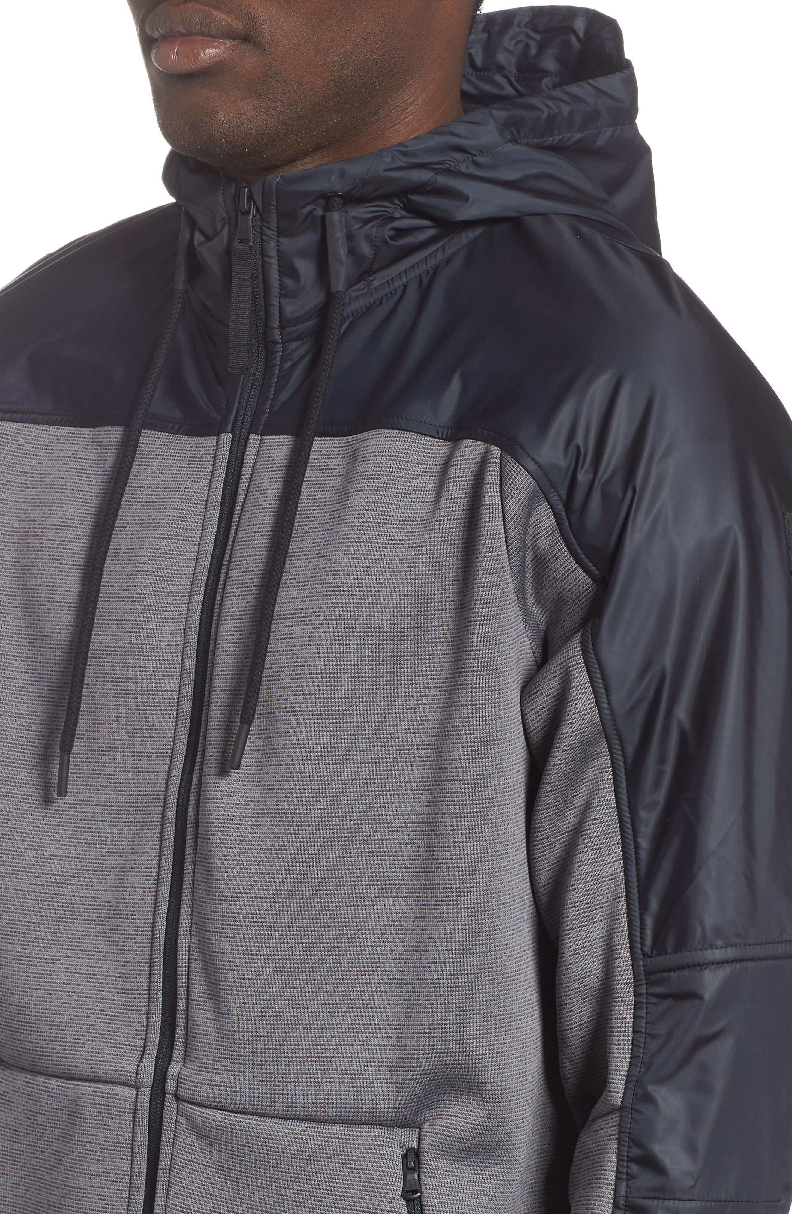 Unstoppable ColdGear<sup>®</sup> Jacket,                             Alternate thumbnail 4, color,                             CHARCOAL/ BLACK