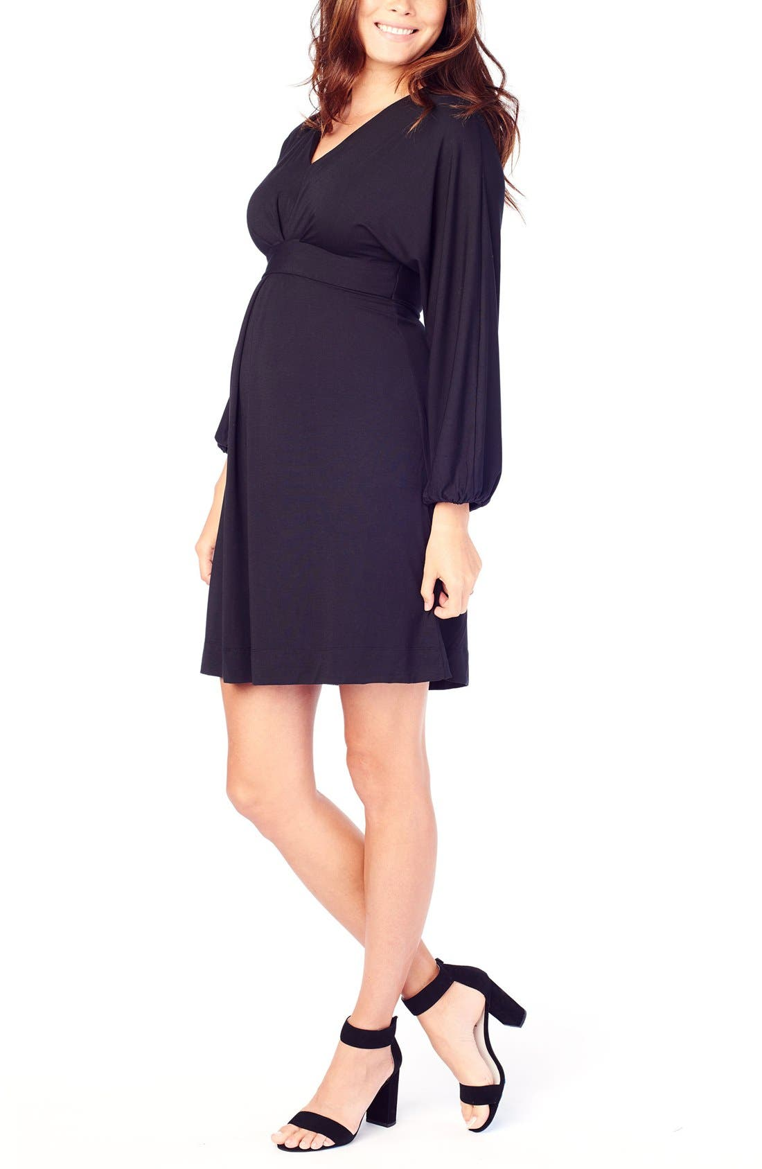 INGRID & ISABEL<SUP>®</SUP>,                             Ingrid & Isabel Jersey Maternity Dress,                             Alternate thumbnail 5, color,                             001
