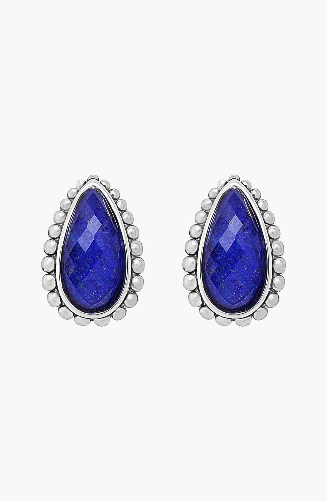 'Maya' Stud Earrings,                             Alternate thumbnail 4, color,                             BLUE