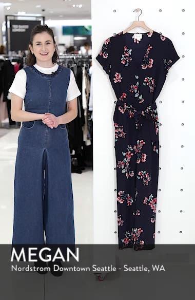Ava Floral Silk Jumpsuit, sales video thumbnail