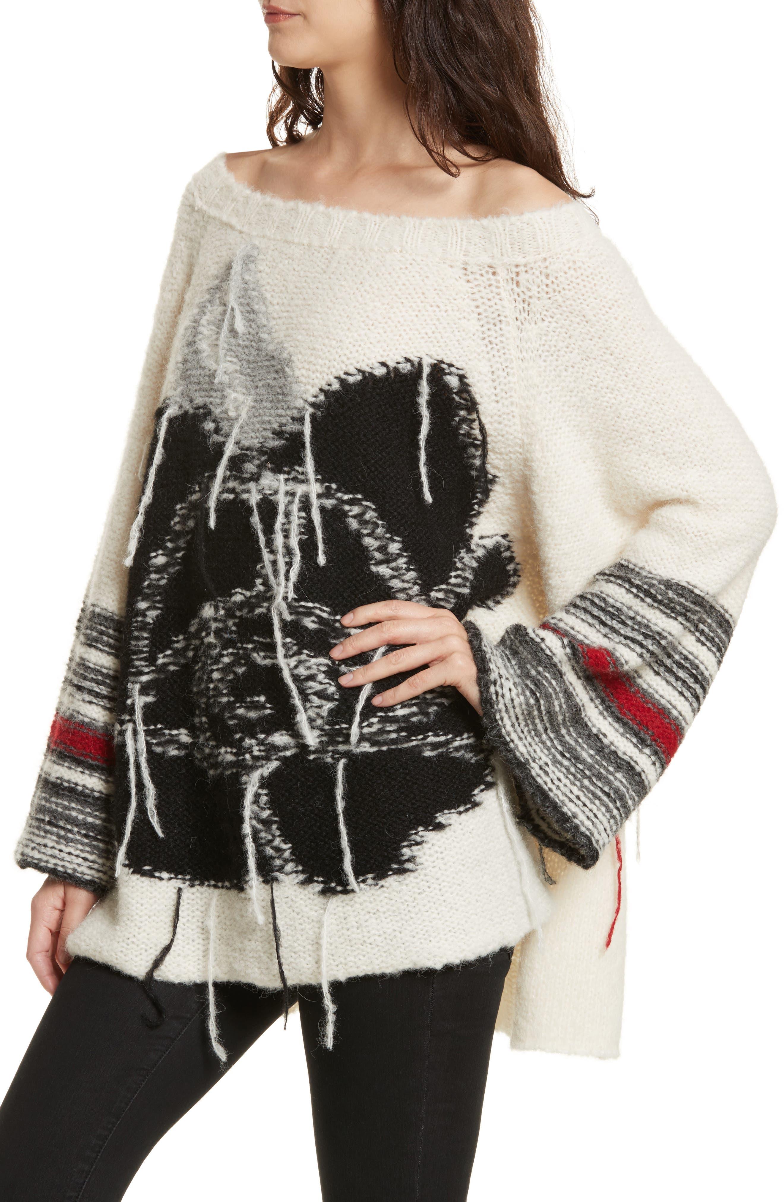 Last Rose Sweater,                             Alternate thumbnail 8, color,