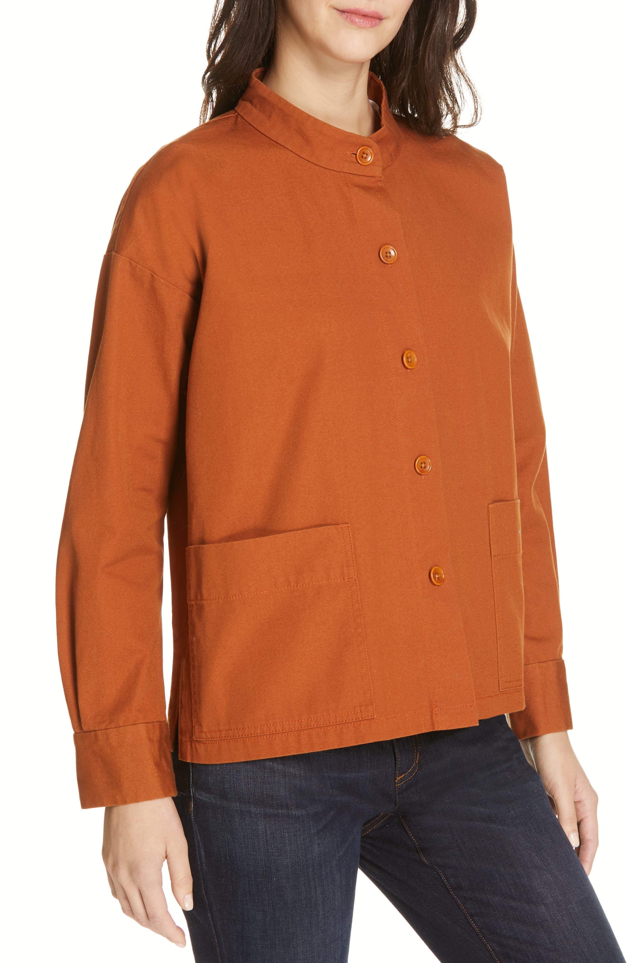 Organic Cotton Jacket,                             Alternate thumbnail 4, color,                             MUSK