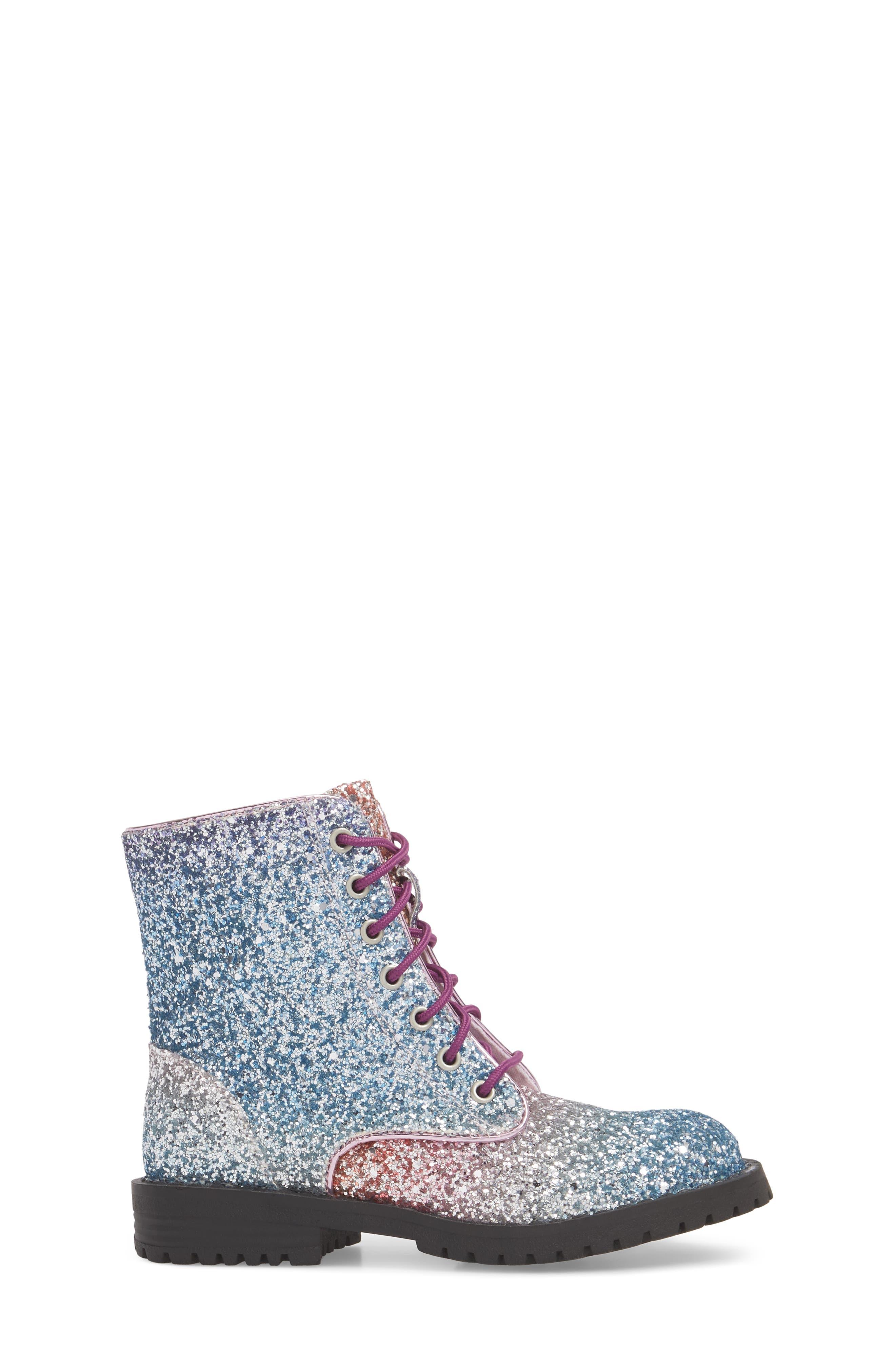 SAM EDELMAN,                             Polly Sophia Glitter Combat Boot,                             Alternate thumbnail 3, color,                             506