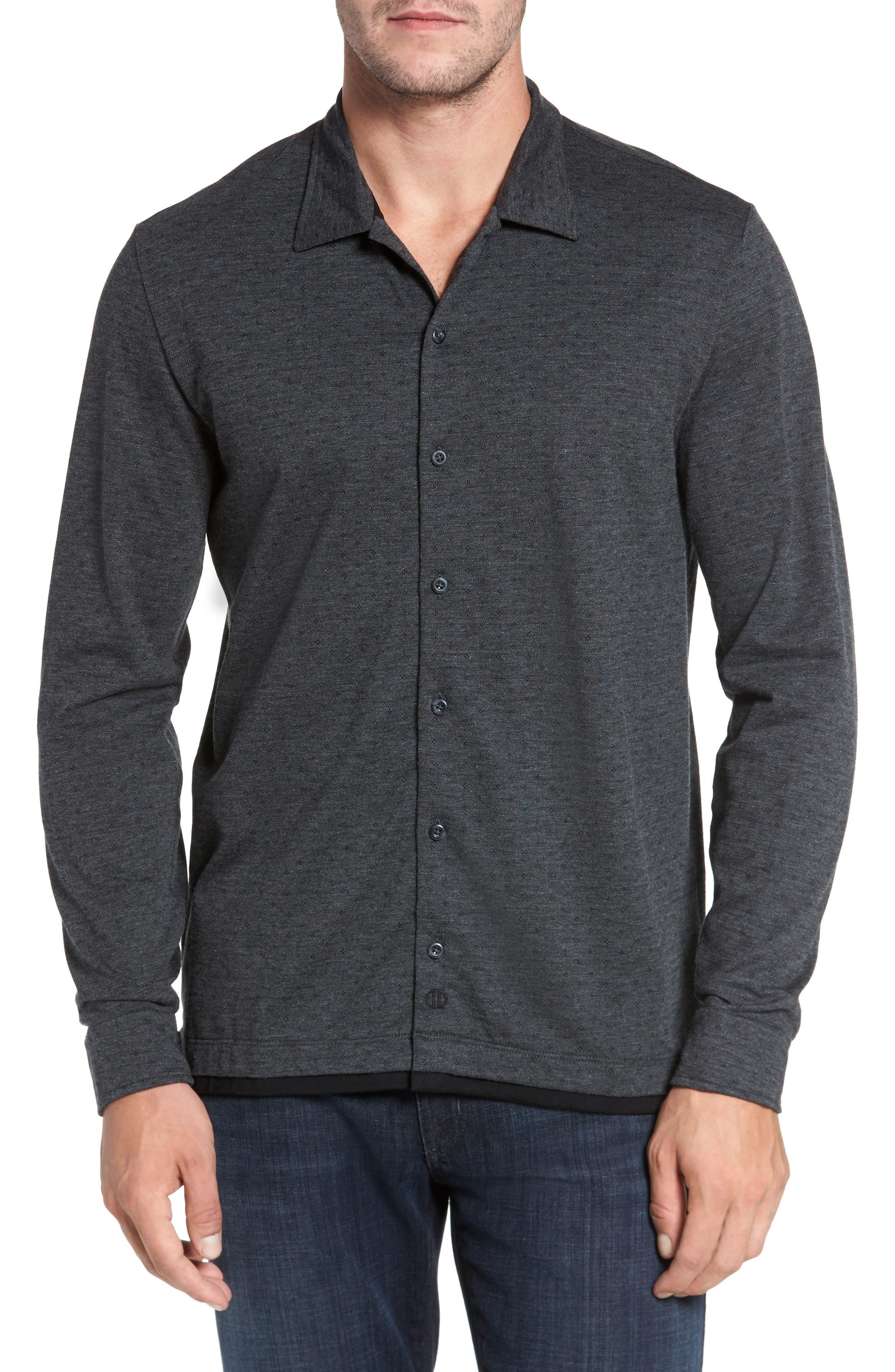 Jacquard Knit Sport Shirt,                             Main thumbnail 1, color,